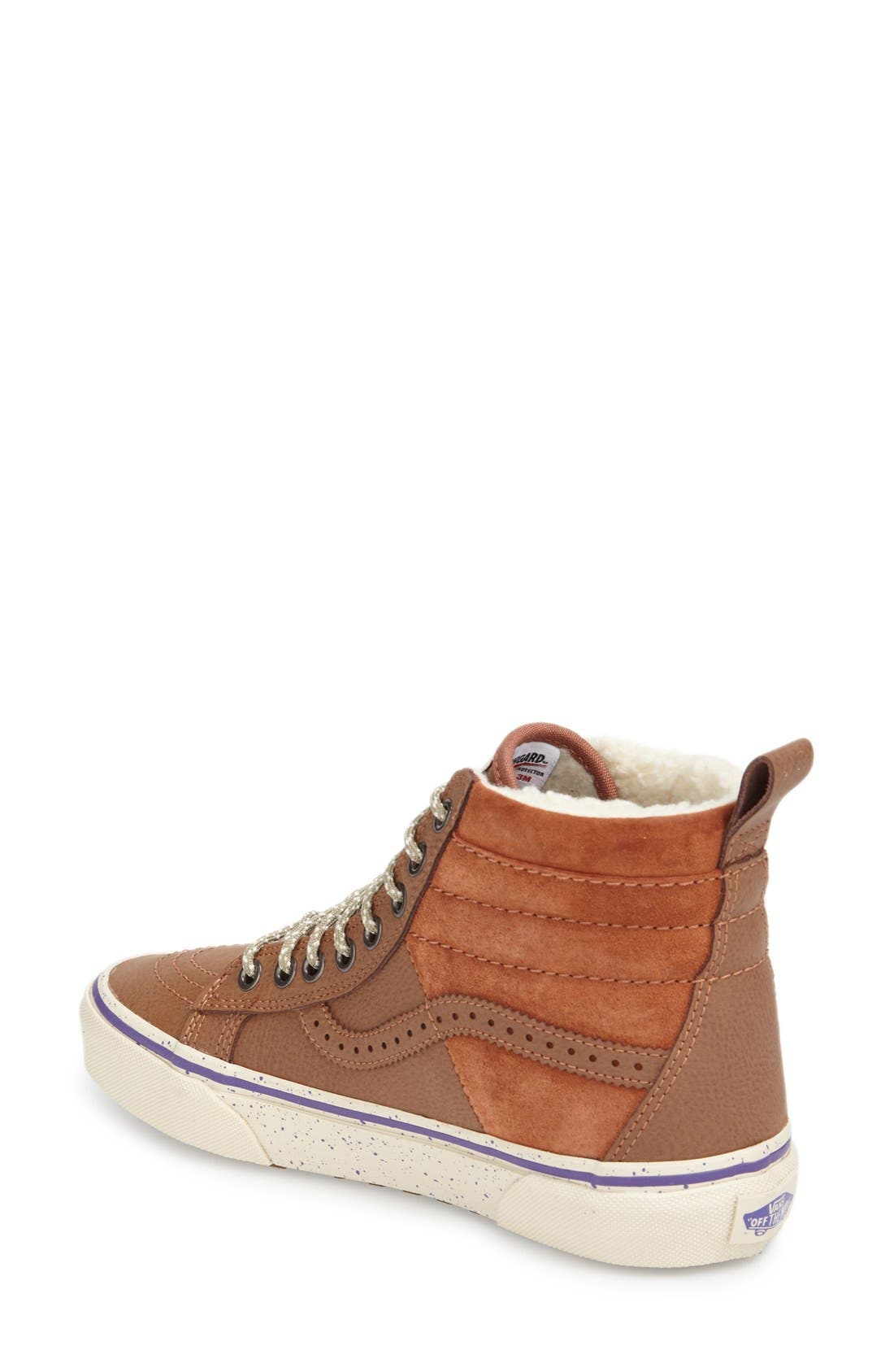 VANS,                             Hana Beaman – SK8-Hi 46 MTE Water Resistant Sneaker,                             Alternate thumbnail 3, color,                             210