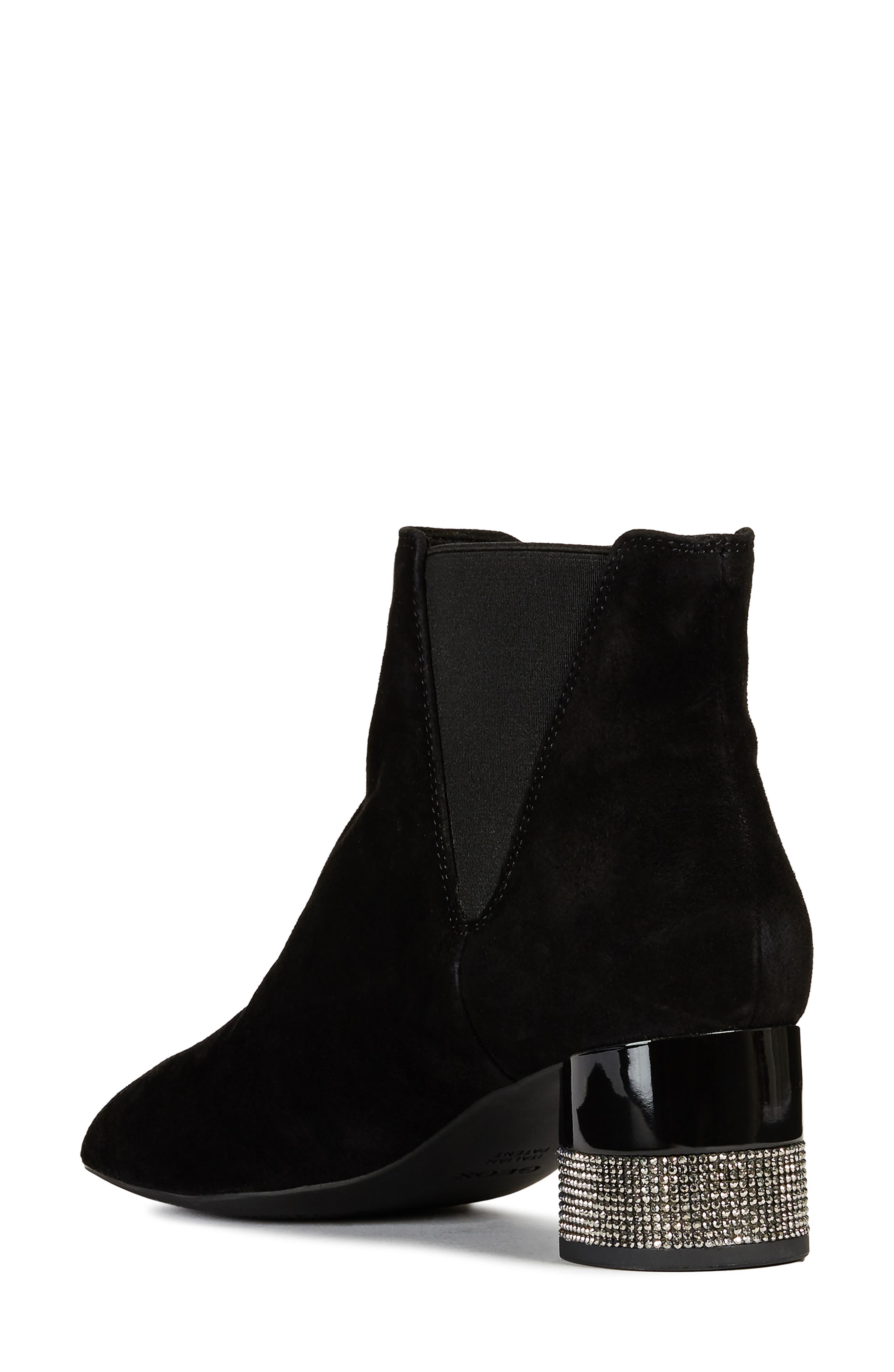 GEOX,                             Chloo Chelsea Waterproof Waterproof Bootie,                             Alternate thumbnail 2, color,                             BLACK SUEDE