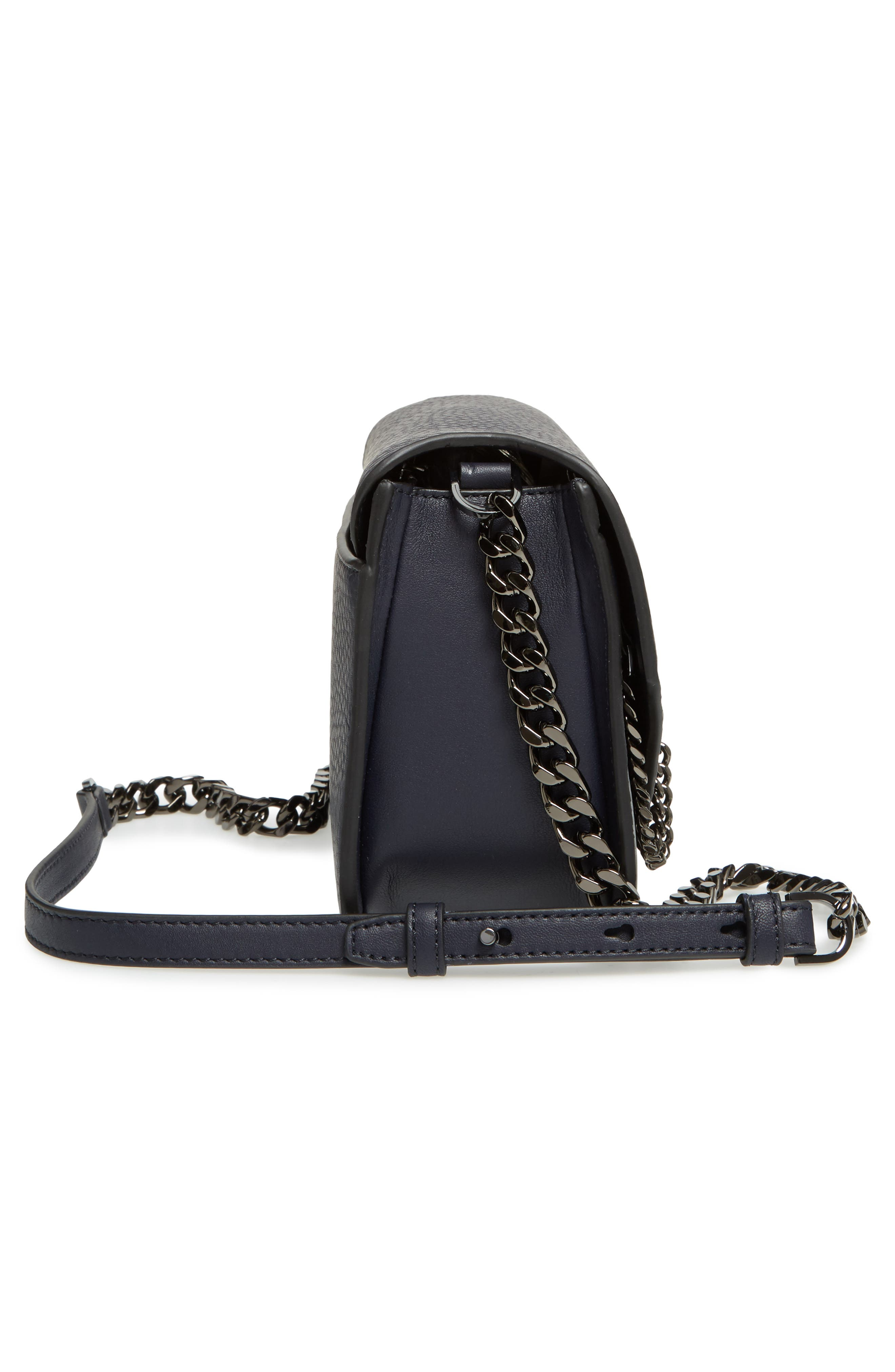 Cortney Nappa Leather Shoulder/Crossbody Bag,                             Alternate thumbnail 20, color,