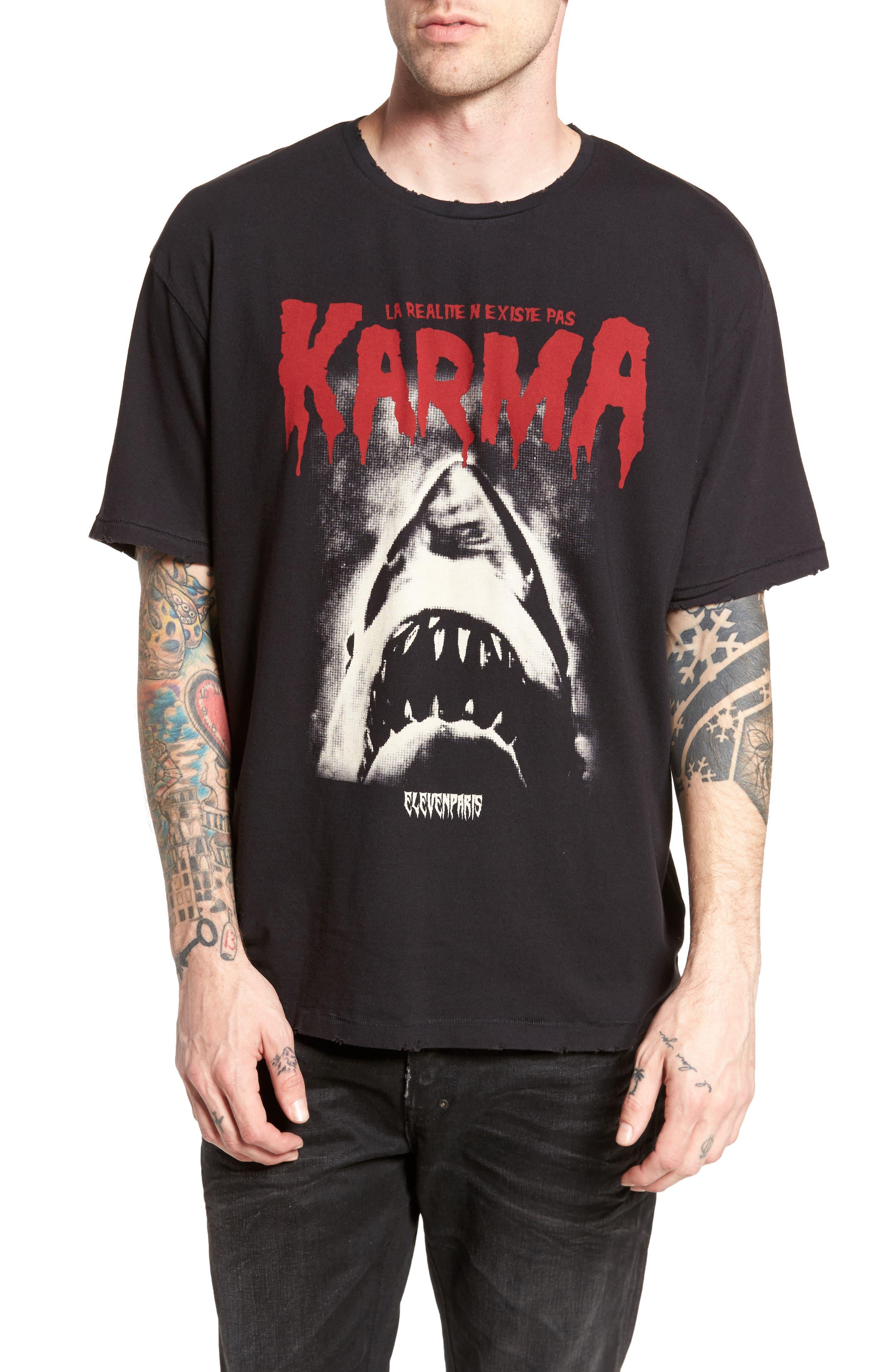Karma Shark T-Shirt,                             Main thumbnail 1, color,                             002