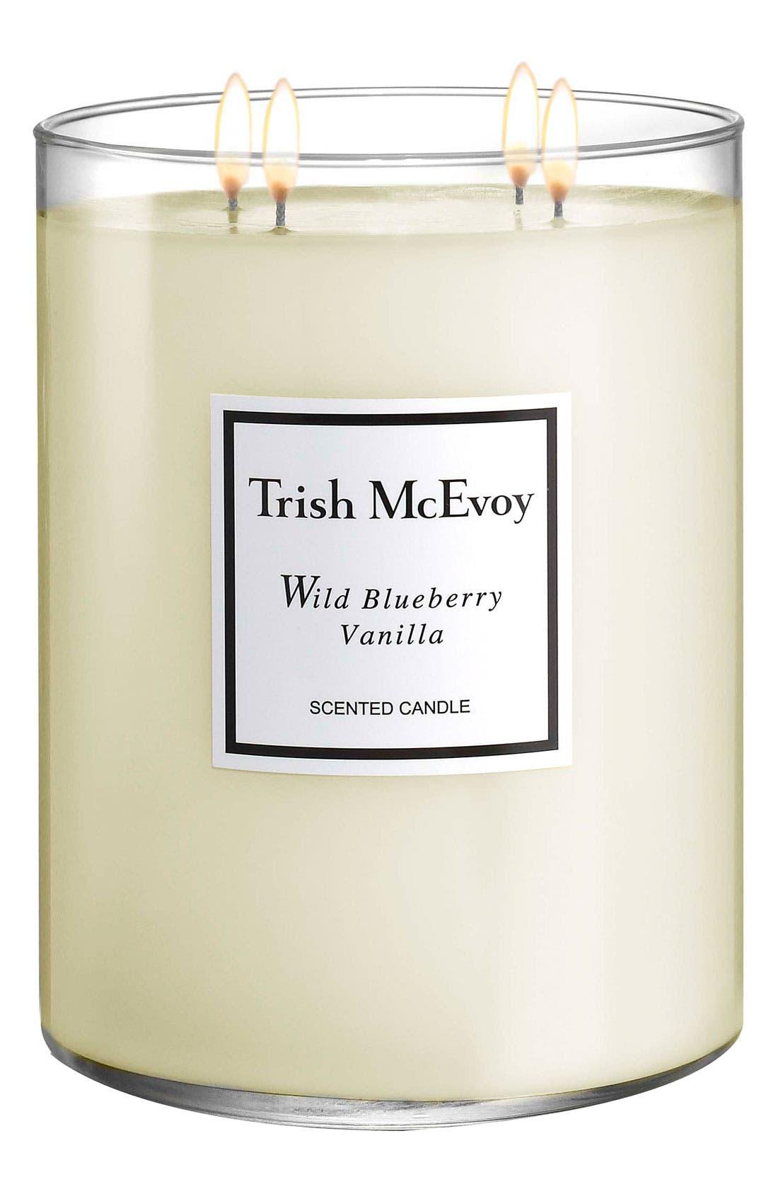 TRISH MCEVOY 'Wild Blueberry Vanilla' Scented Candle, Main, color, NO COLOR
