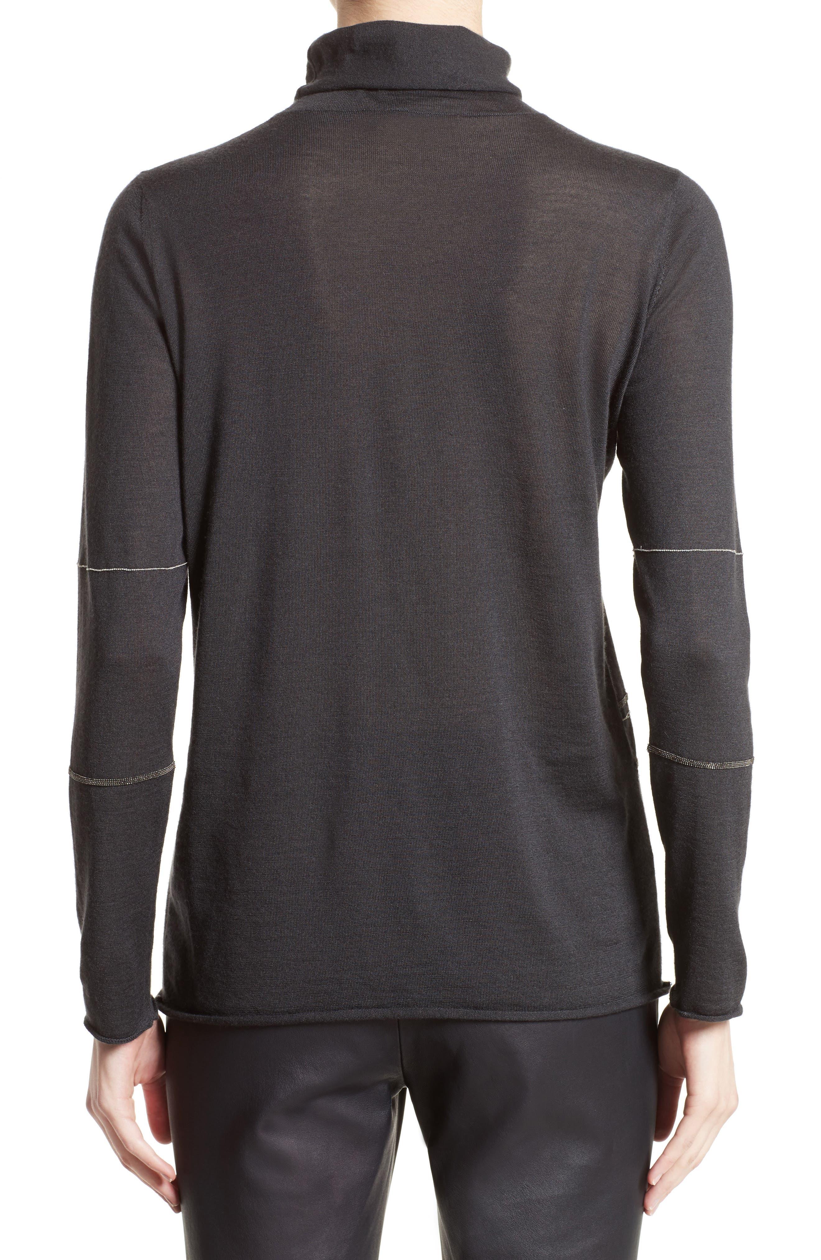 Cashmere & Silk Turtleneck Sweater,                             Alternate thumbnail 2, color,                             021