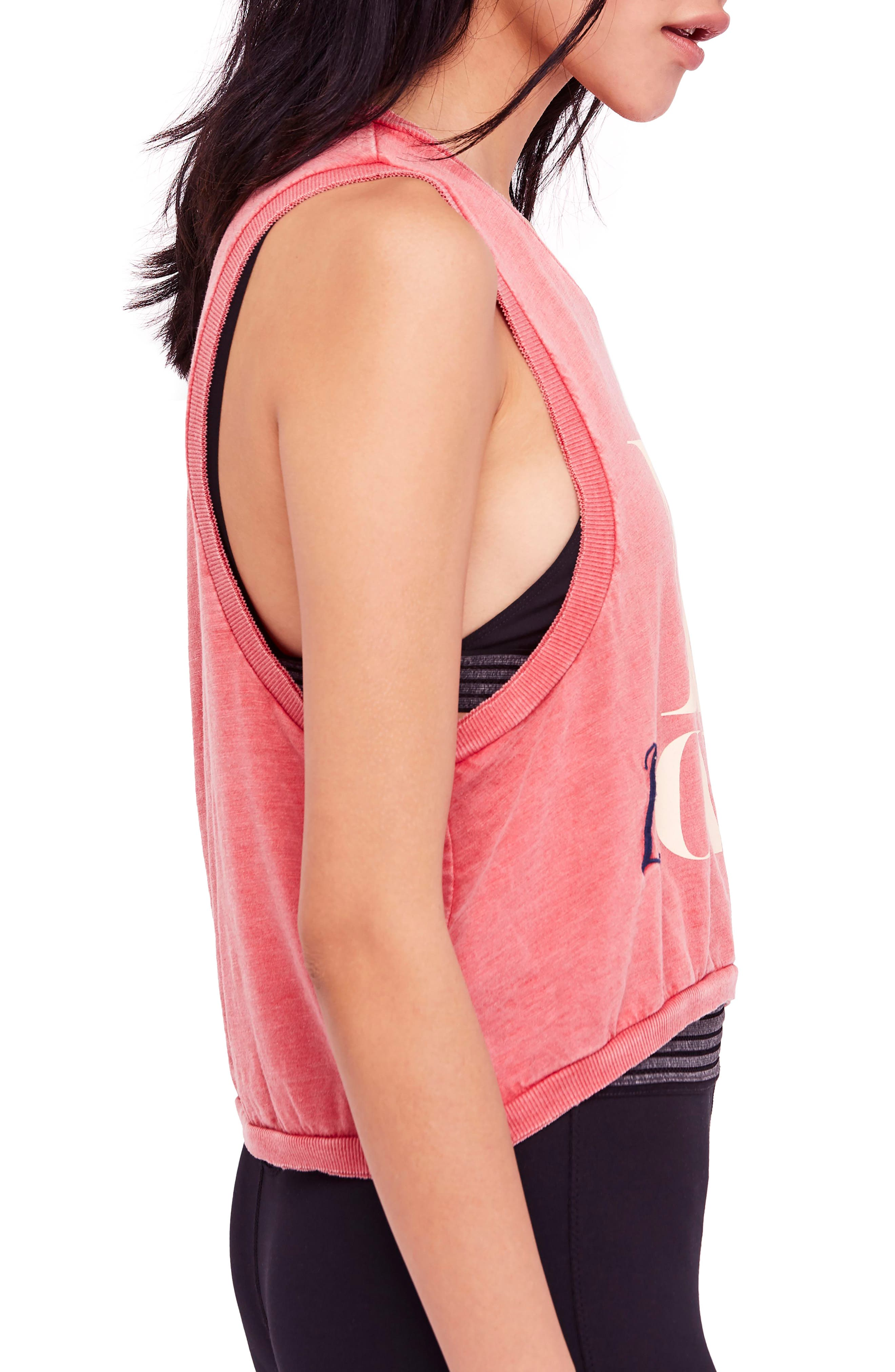 free people Move Graphic Tank,                             Alternate thumbnail 3, color,                             RED