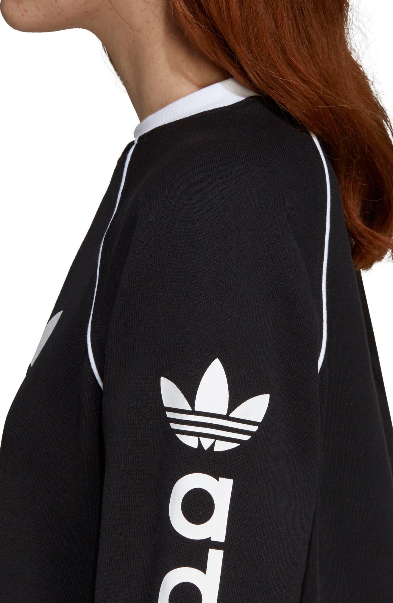 Originals Crop Sweatshirt,                             Alternate thumbnail 8, color,                             BLACK