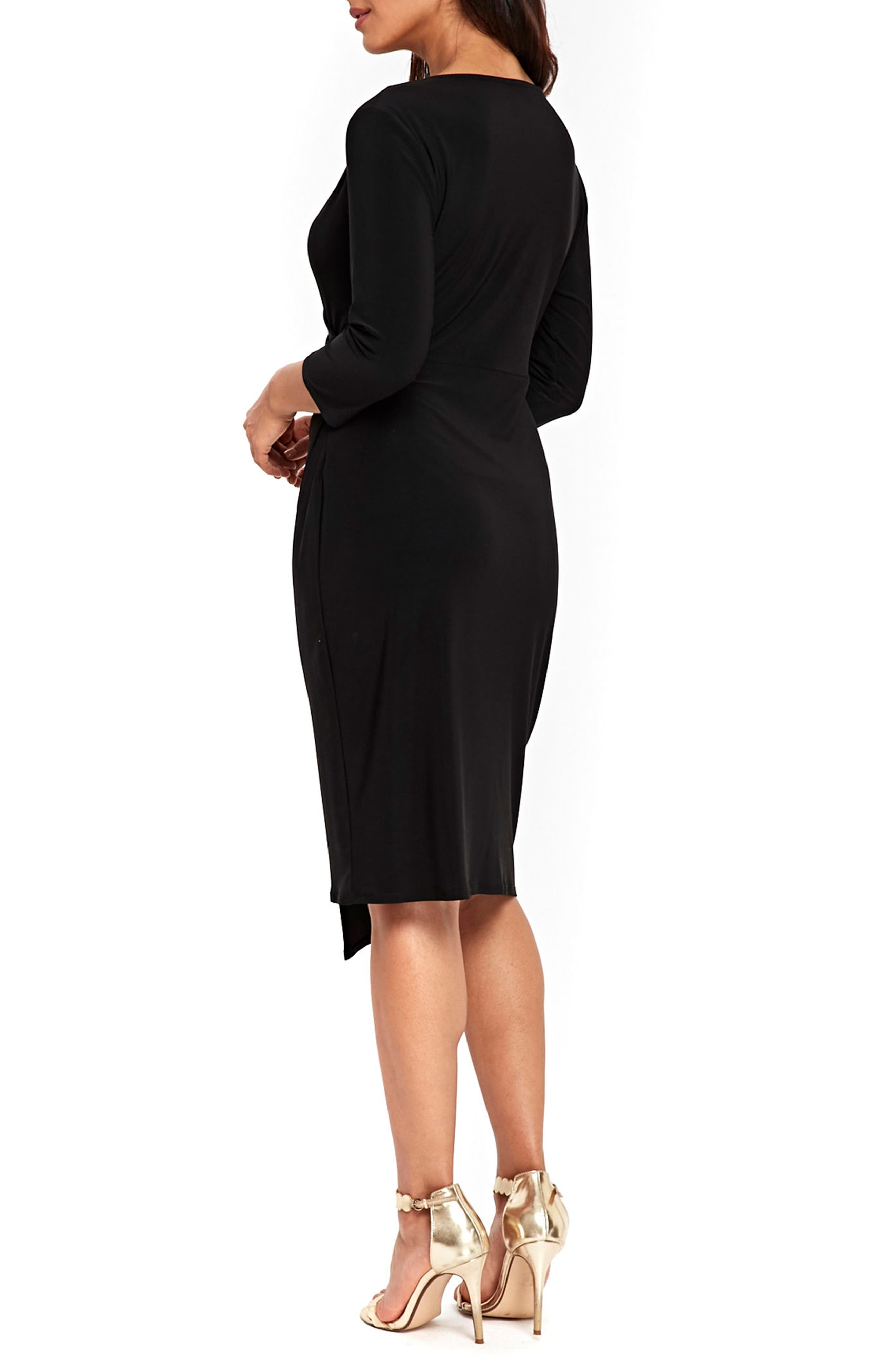 Ity Wrap Dress,                             Alternate thumbnail 2, color,                             001
