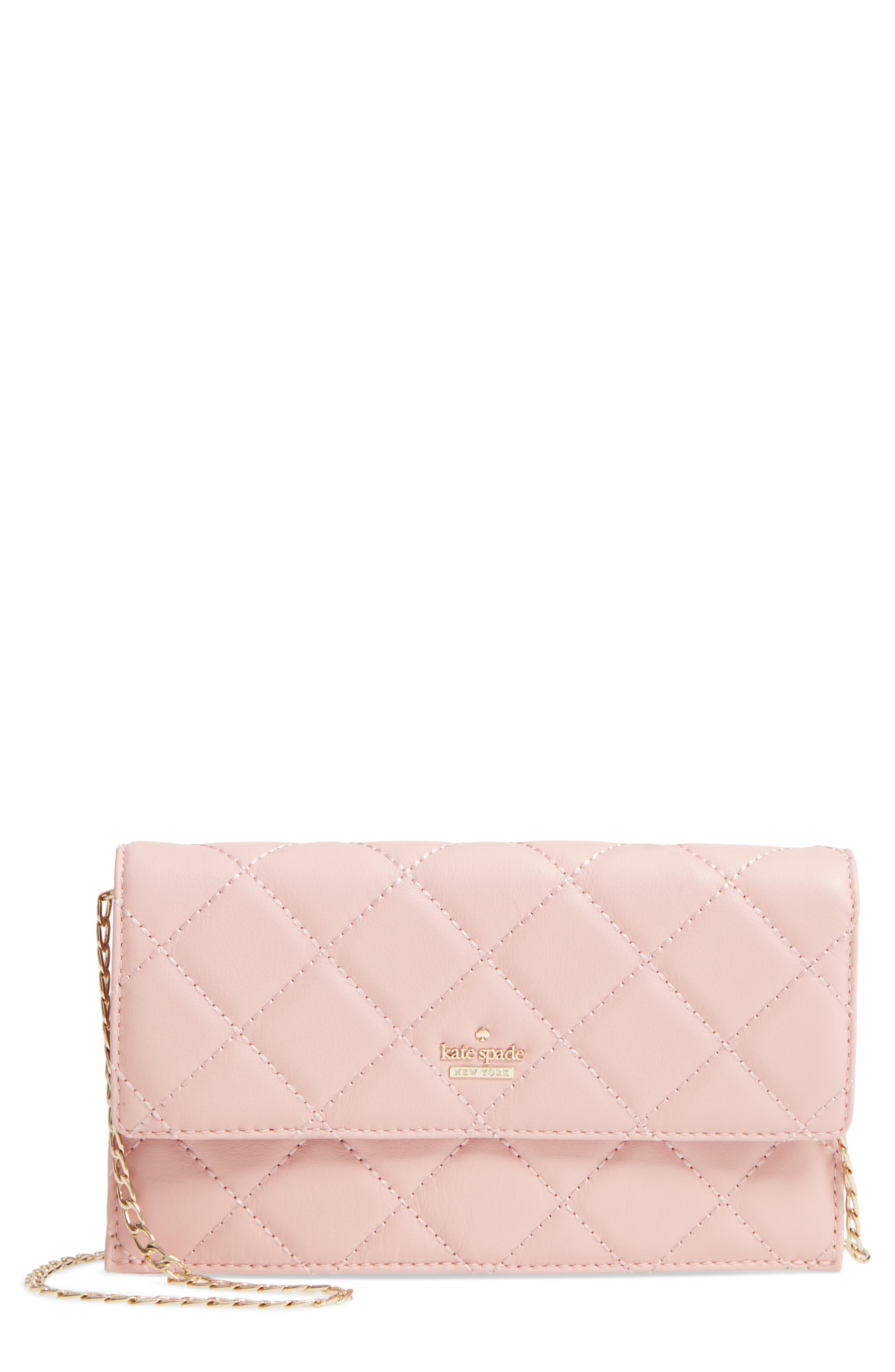 emerson place - brennan quilted leather convertible clutch & card holder,                             Main thumbnail 2, color,