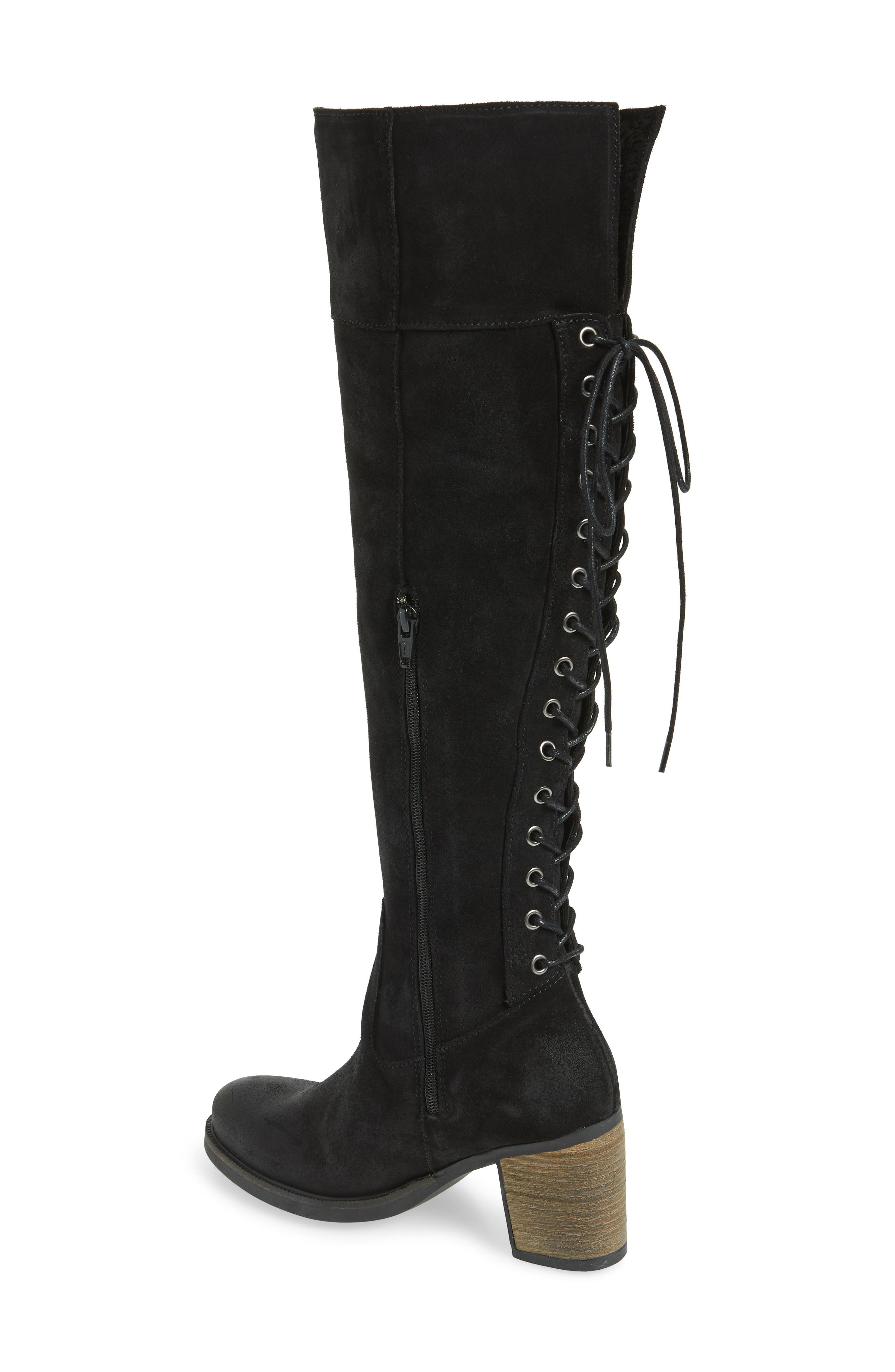 Bond Waterproof Over-the-Knee Boot,                             Alternate thumbnail 2, color,                             BLACK OIL SUEDE