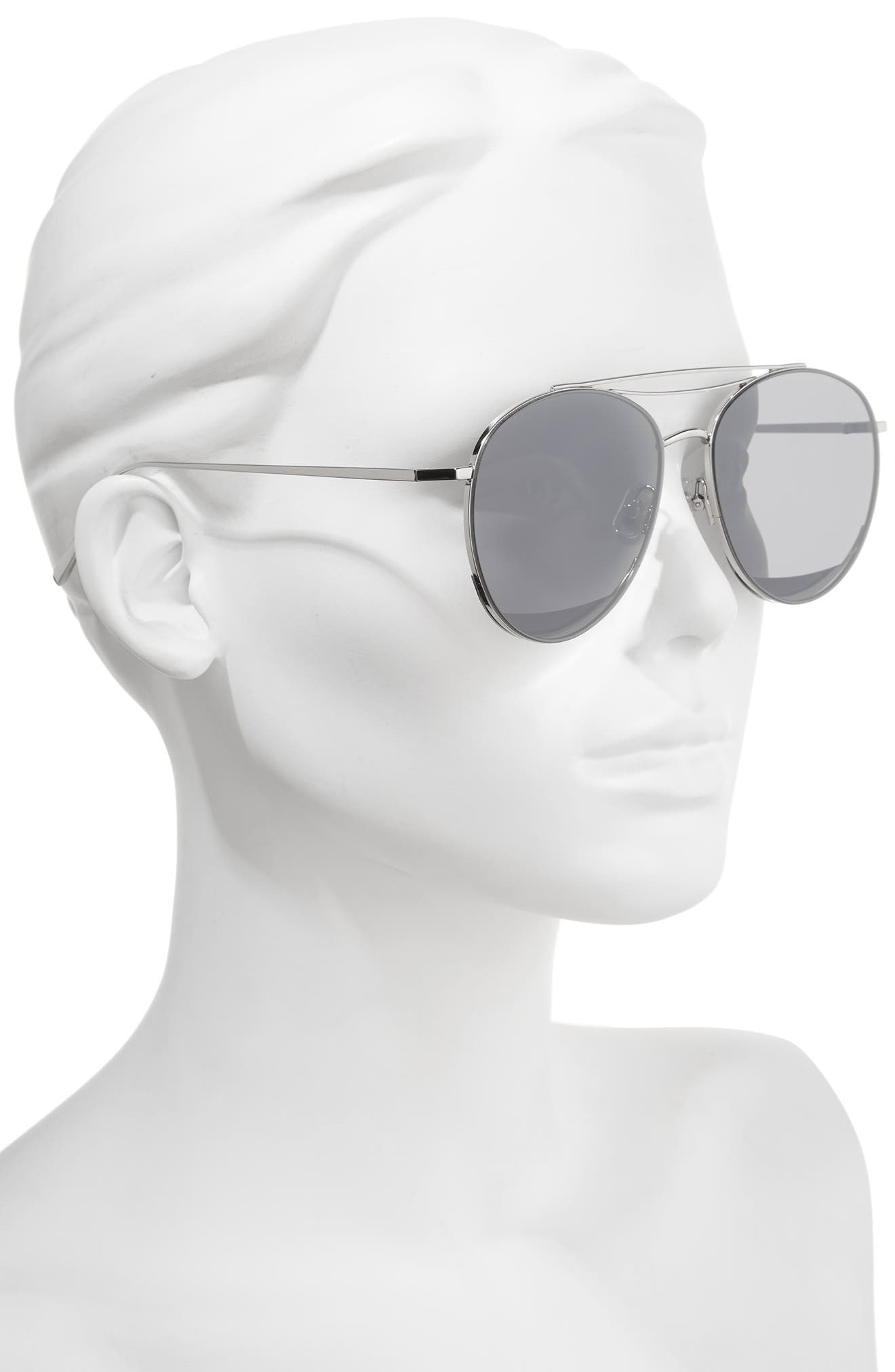 Odd Odd 61mm Aviator Sunglasses,                             Alternate thumbnail 2, color,                             040