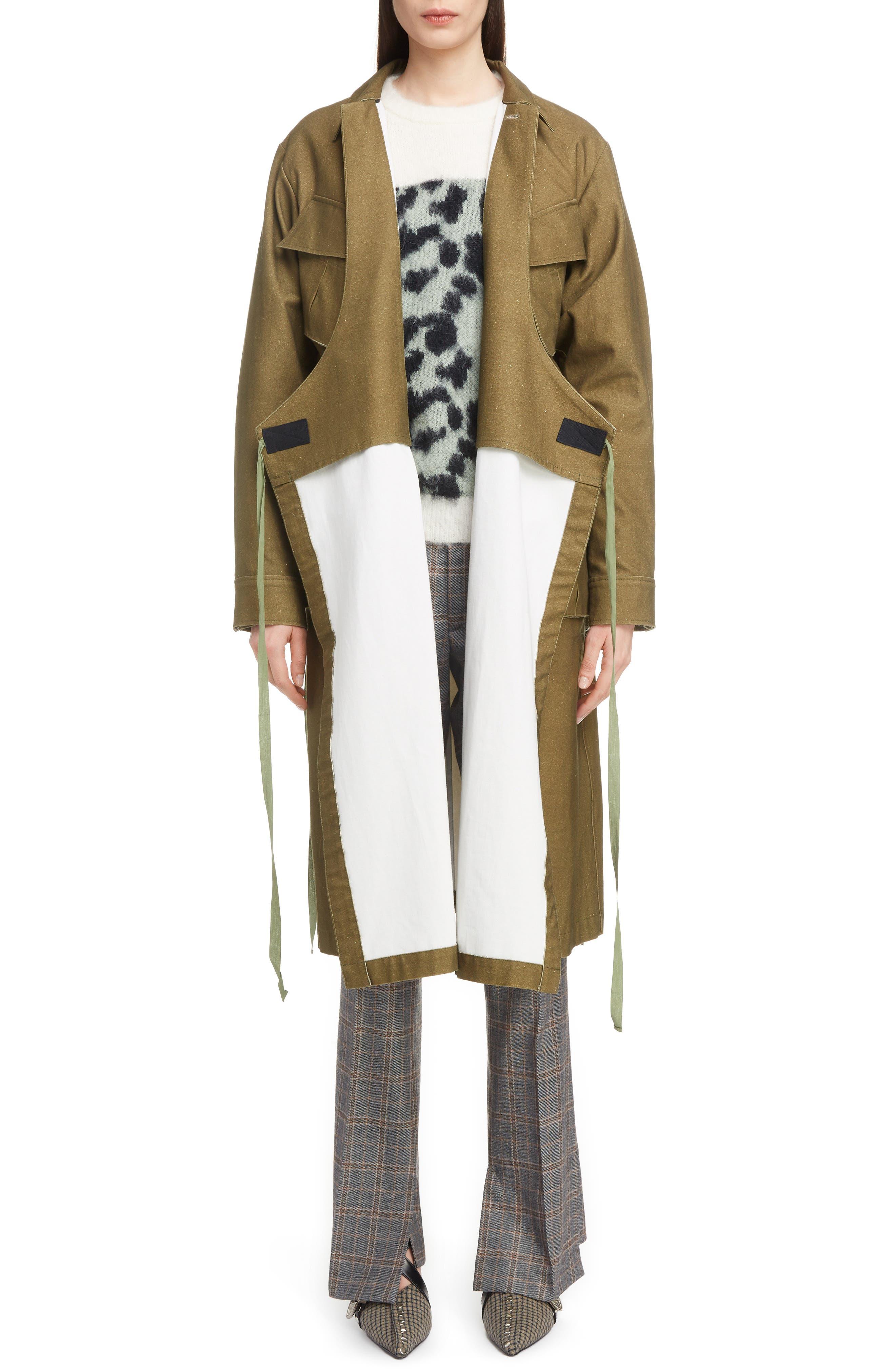 Gabardine Coat,                             Alternate thumbnail 7, color,                             09/ KHAKI