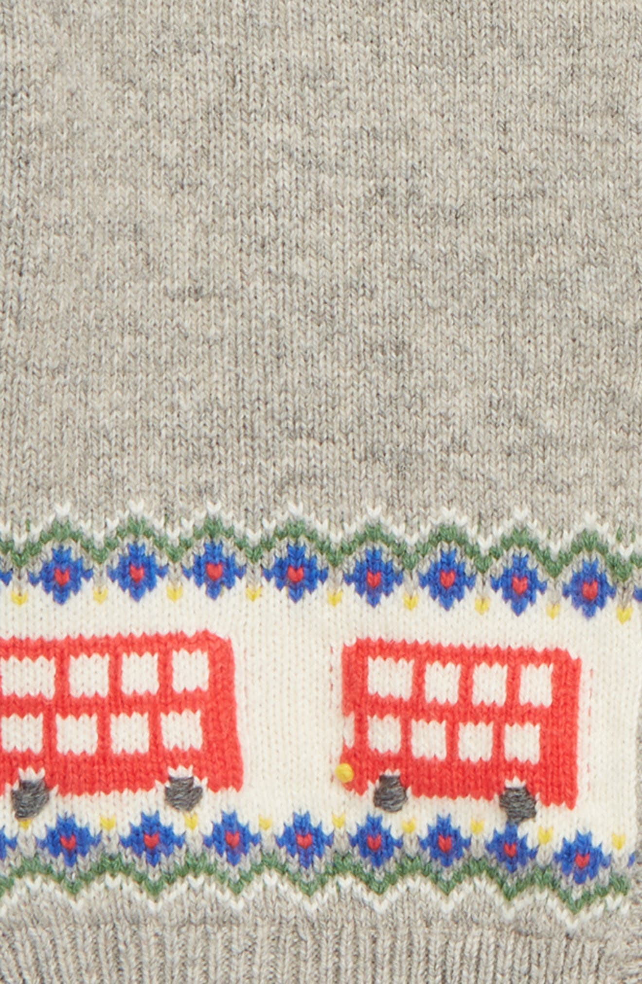 MINI BODEN,                             Buses Fair Isle Cardigan,                             Alternate thumbnail 2, color,                             GRY GREY MARL BUSES