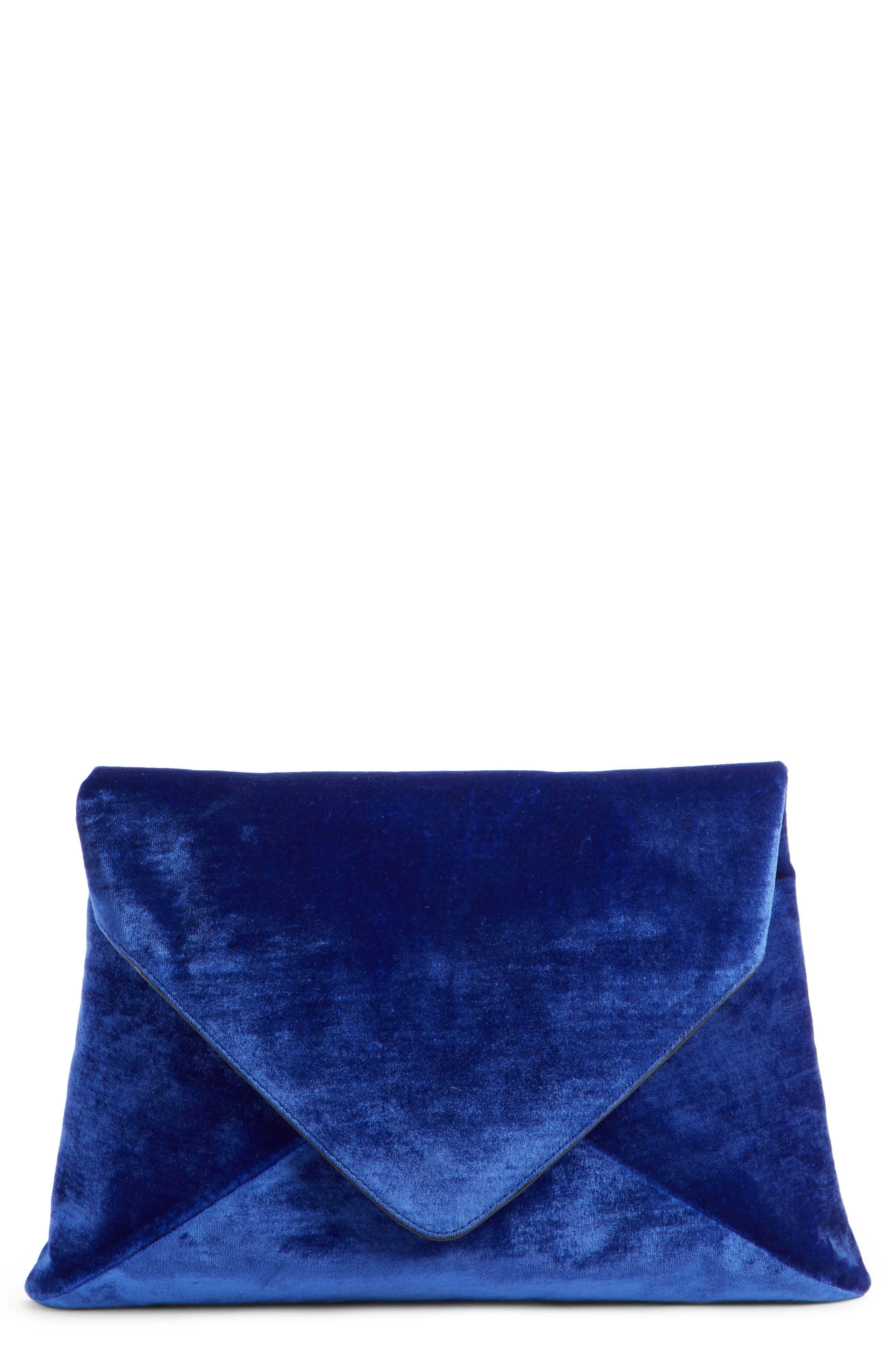 Velvet Envelope Clutch,                         Main,                         color, 400