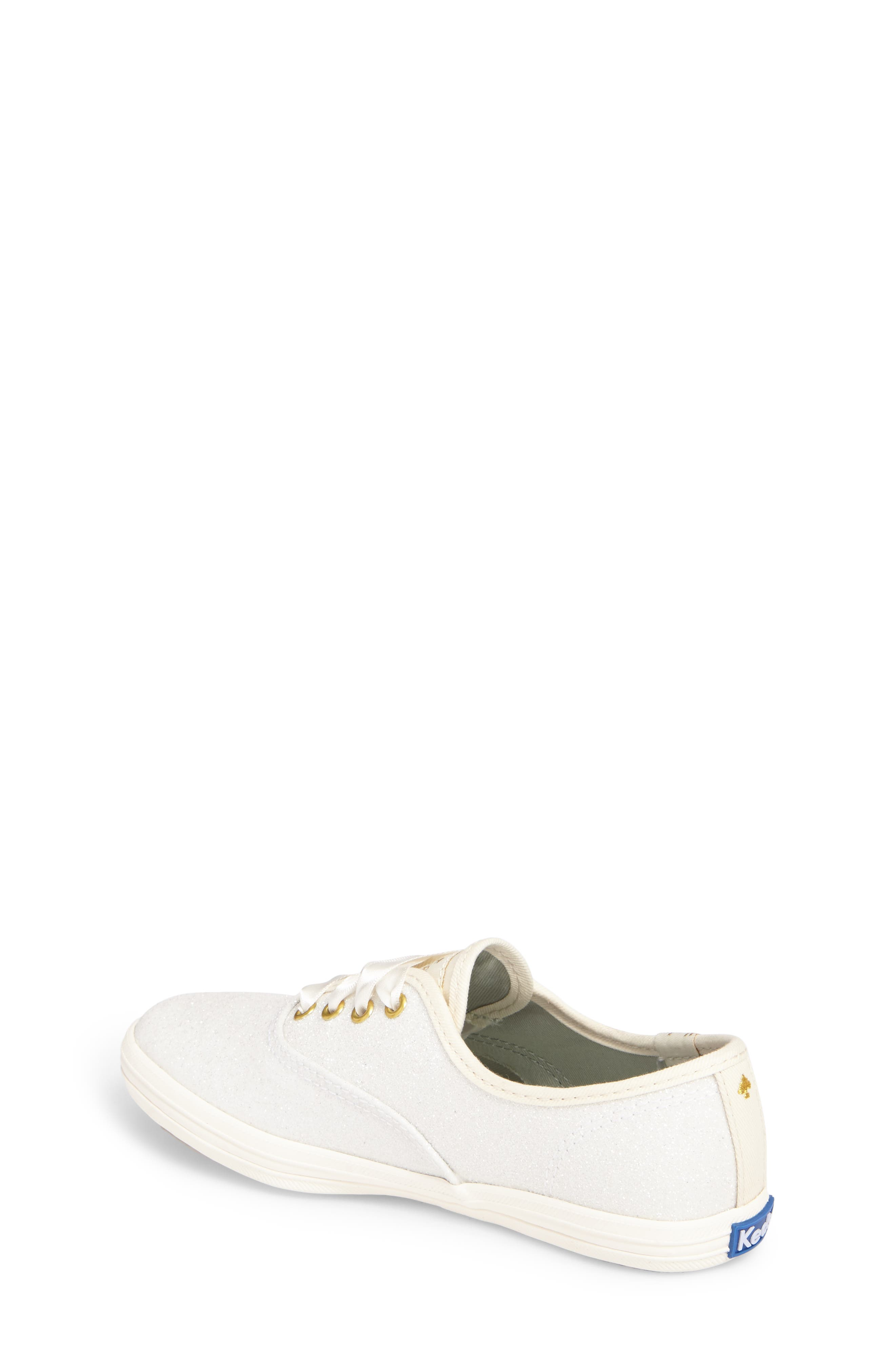 x kate spade new york Champion Glitter Sneaker,                             Alternate thumbnail 2, color,                             CREAM