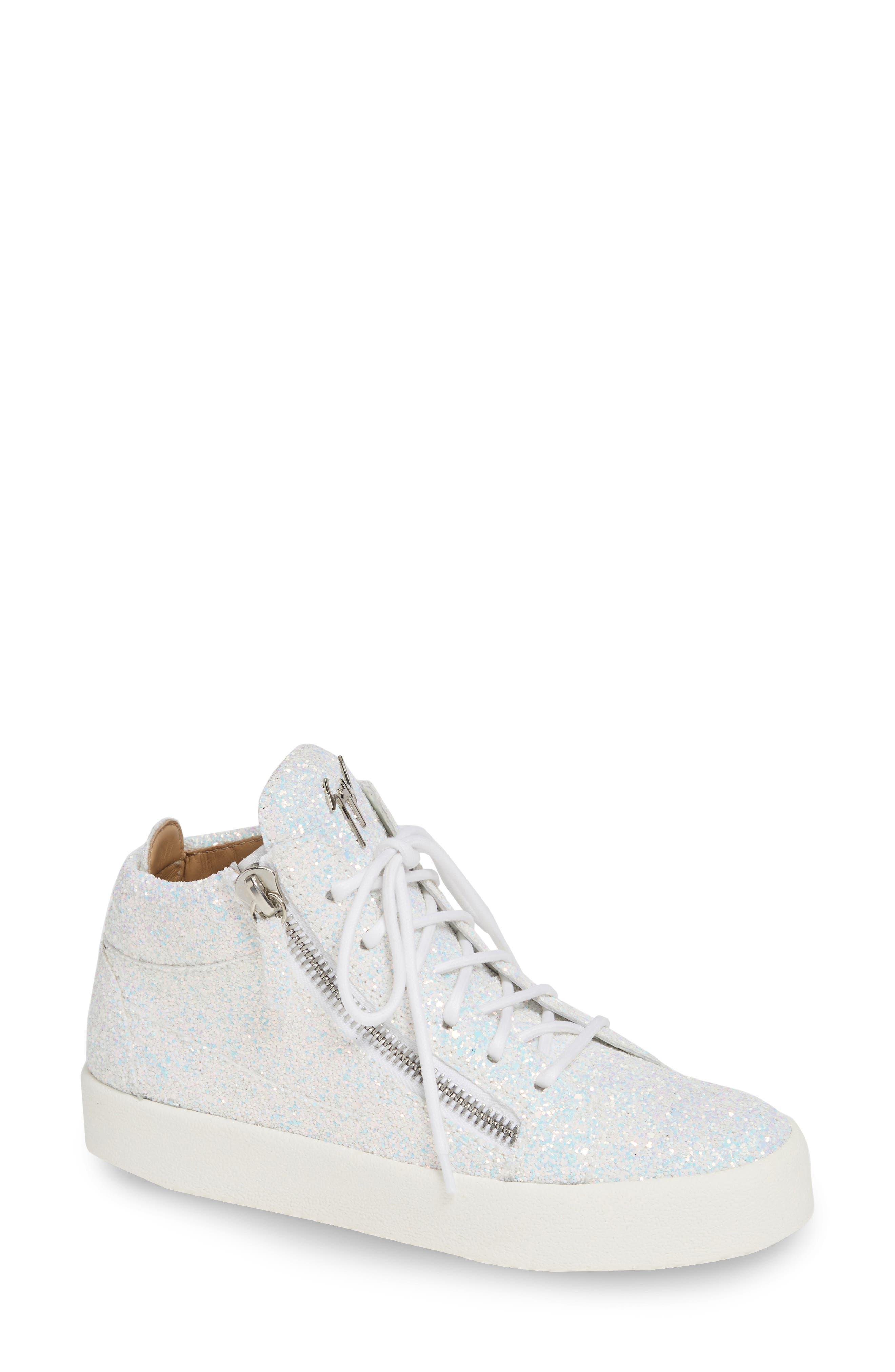 Giuseppe Zanotti Breck Mid Top Sneaker- White a24b72ca5