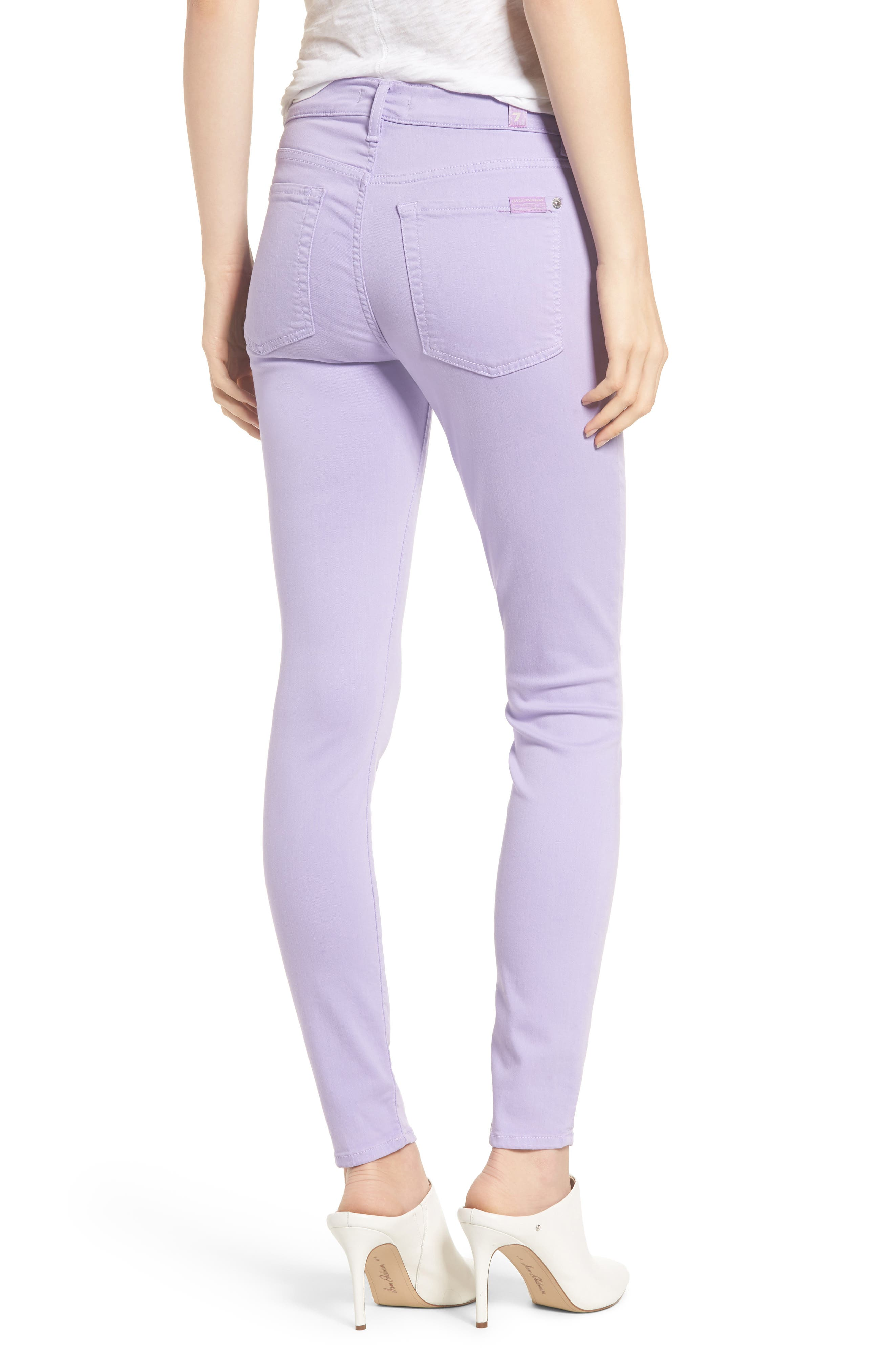 The Ankle Skinny Jeans,                             Alternate thumbnail 2, color,                             SOFT LILAC