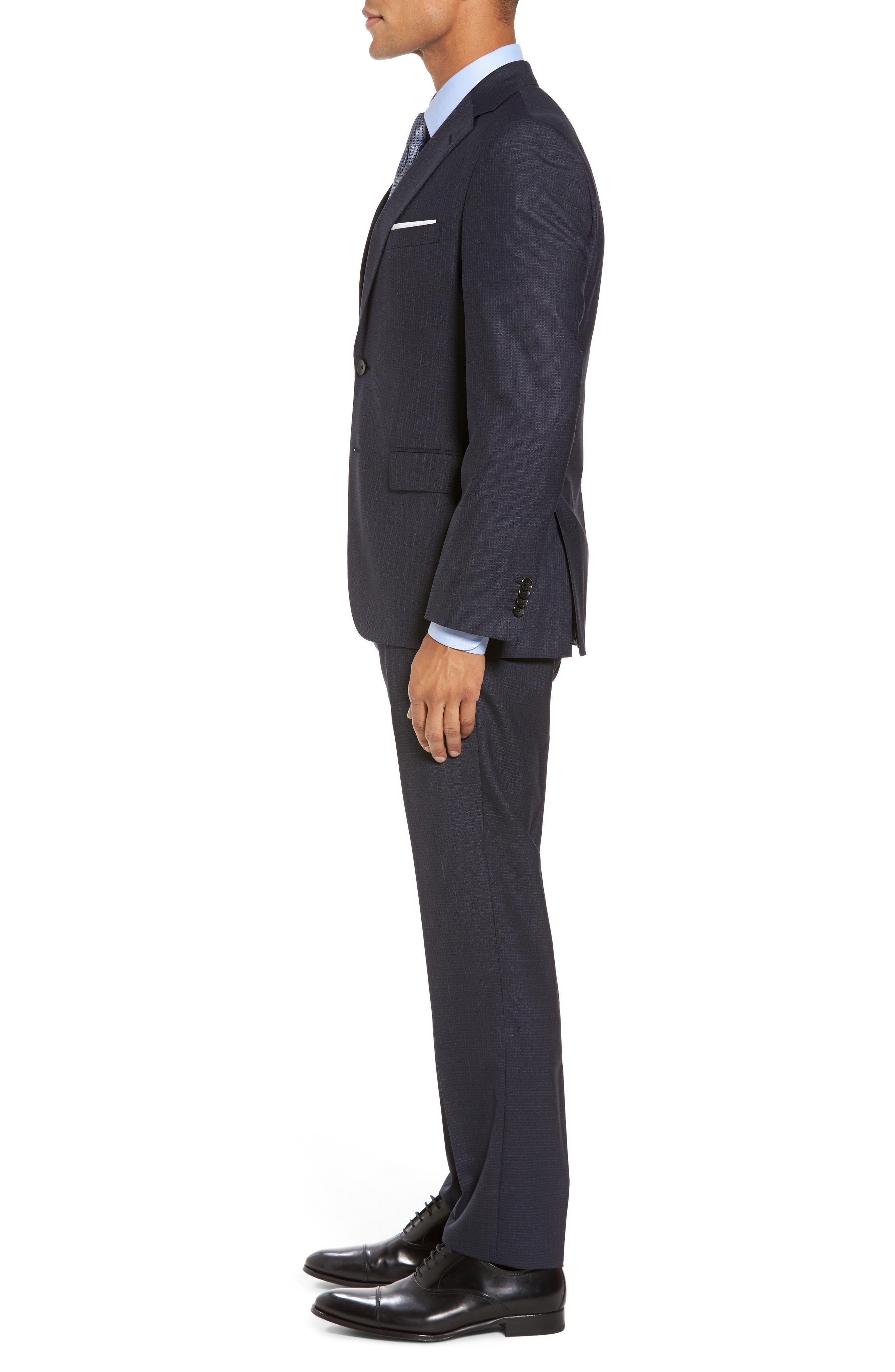 Johnstons/Lenon Classic Fit Check Wool Suit,                             Alternate thumbnail 3, color,