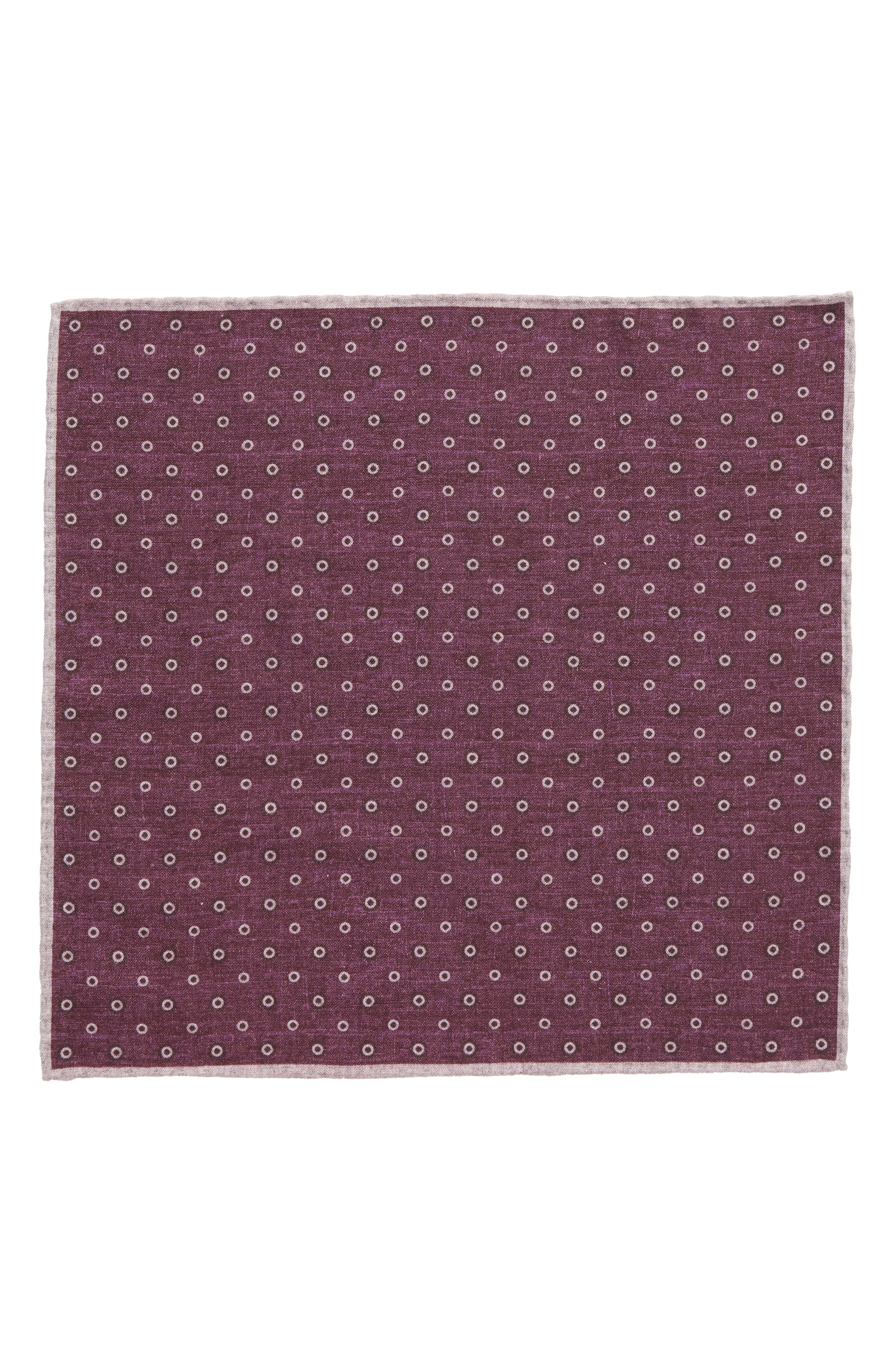 Medallion Wool & Cotton Pocket Square,                             Alternate thumbnail 6, color,