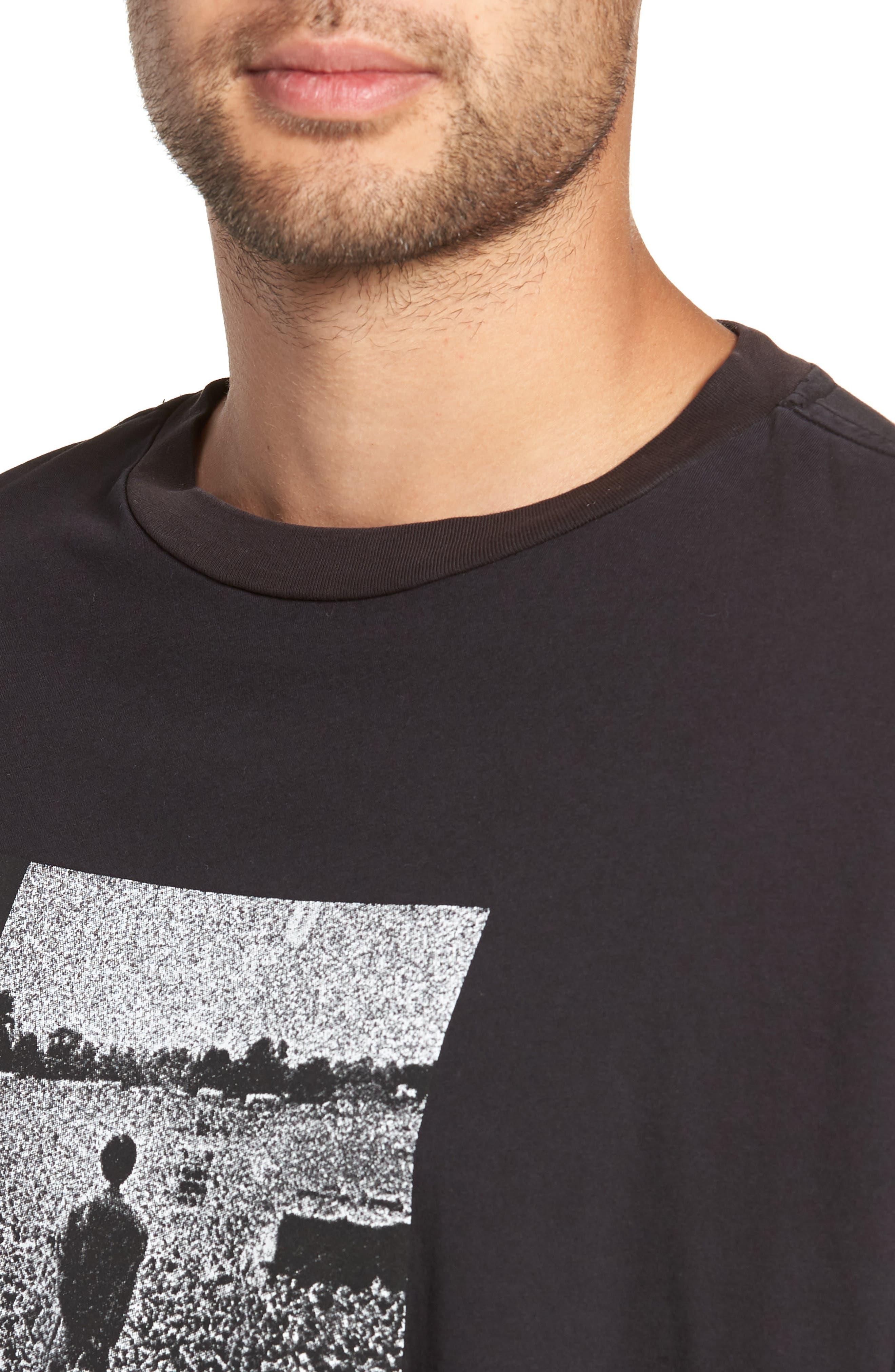 Oasis Oversize Long Sleeve T-Shirt,                             Alternate thumbnail 4, color,                             001