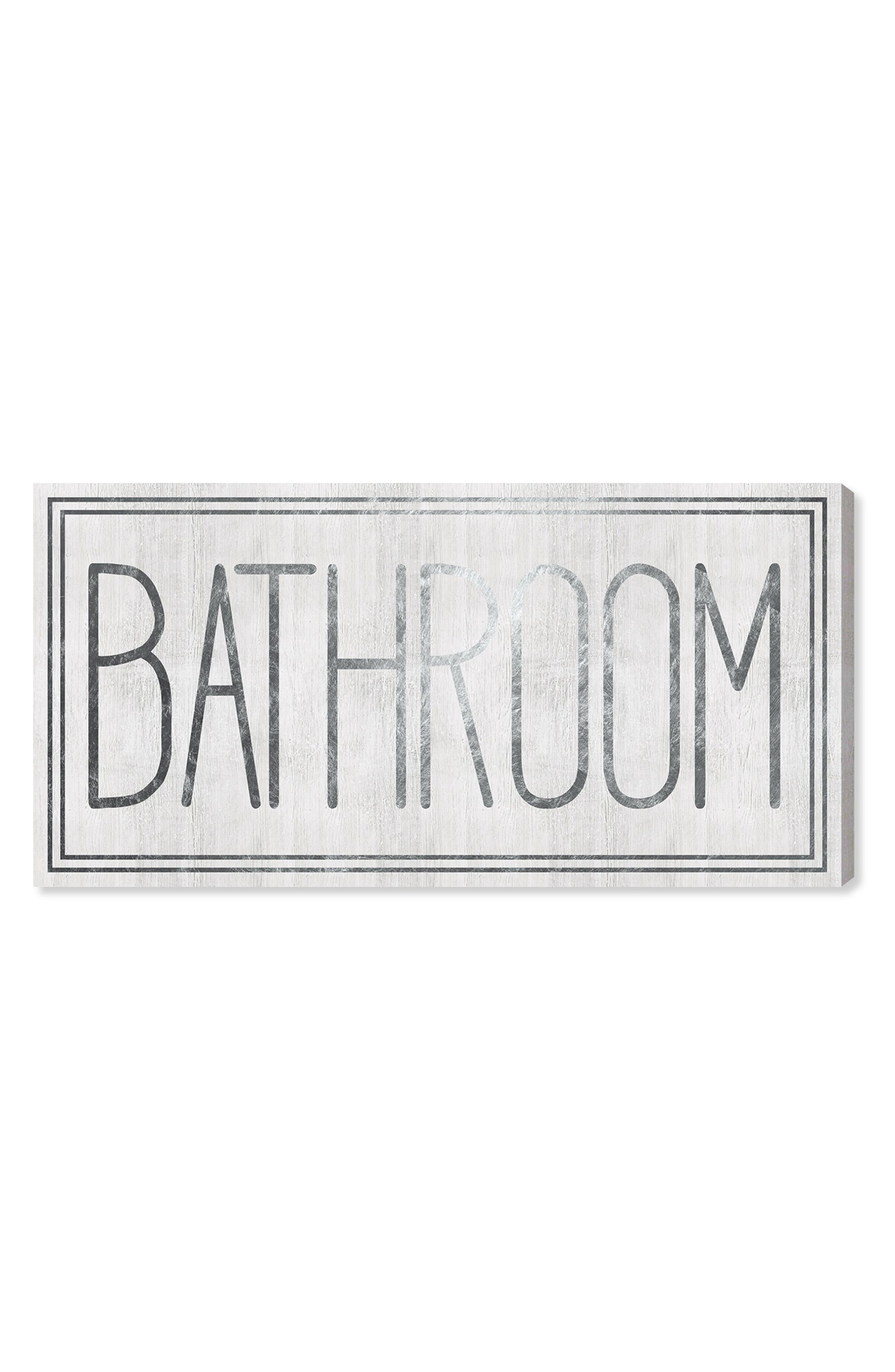 Bathroom Canvas Wall Art,                         Main,                         color, 100