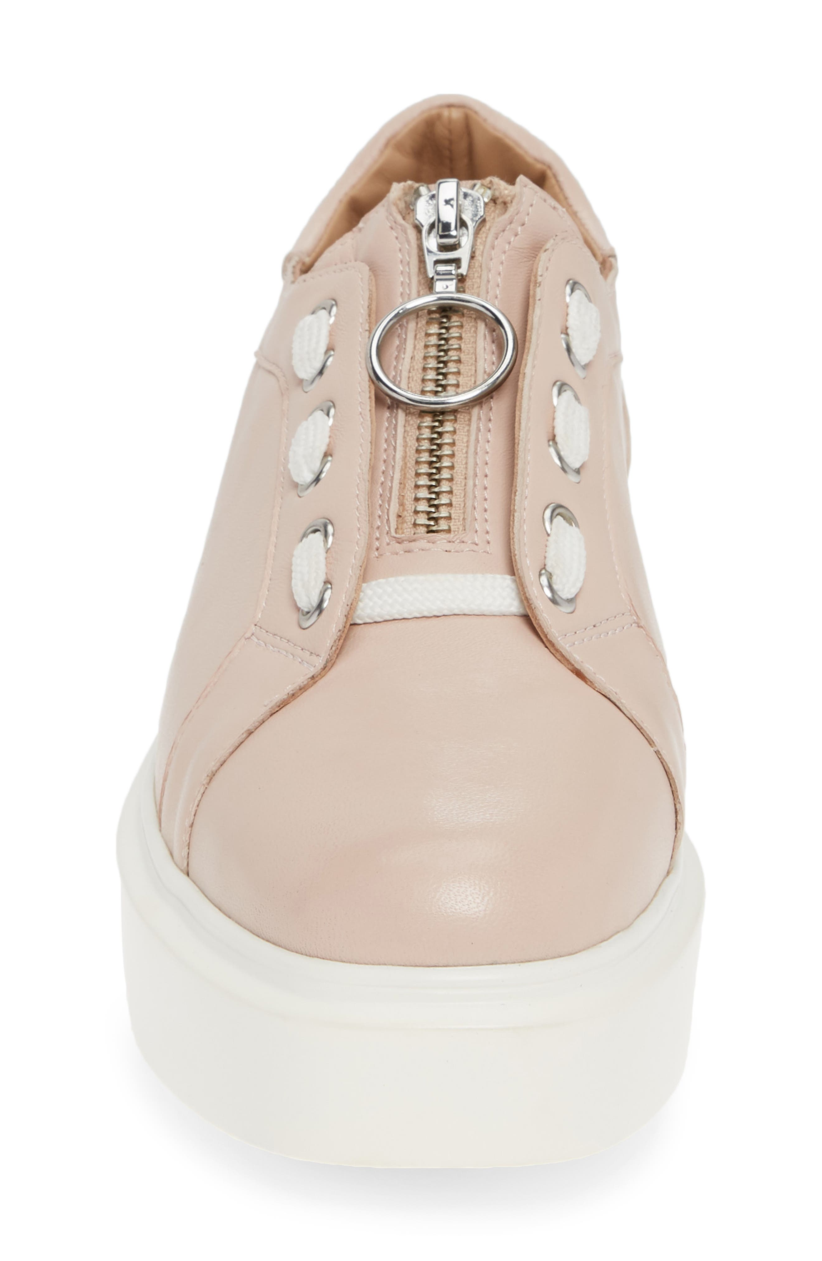 LINEA PAOLO,                             Killian Platform Sneaker,                             Alternate thumbnail 4, color,                             BLUSH LEATHER