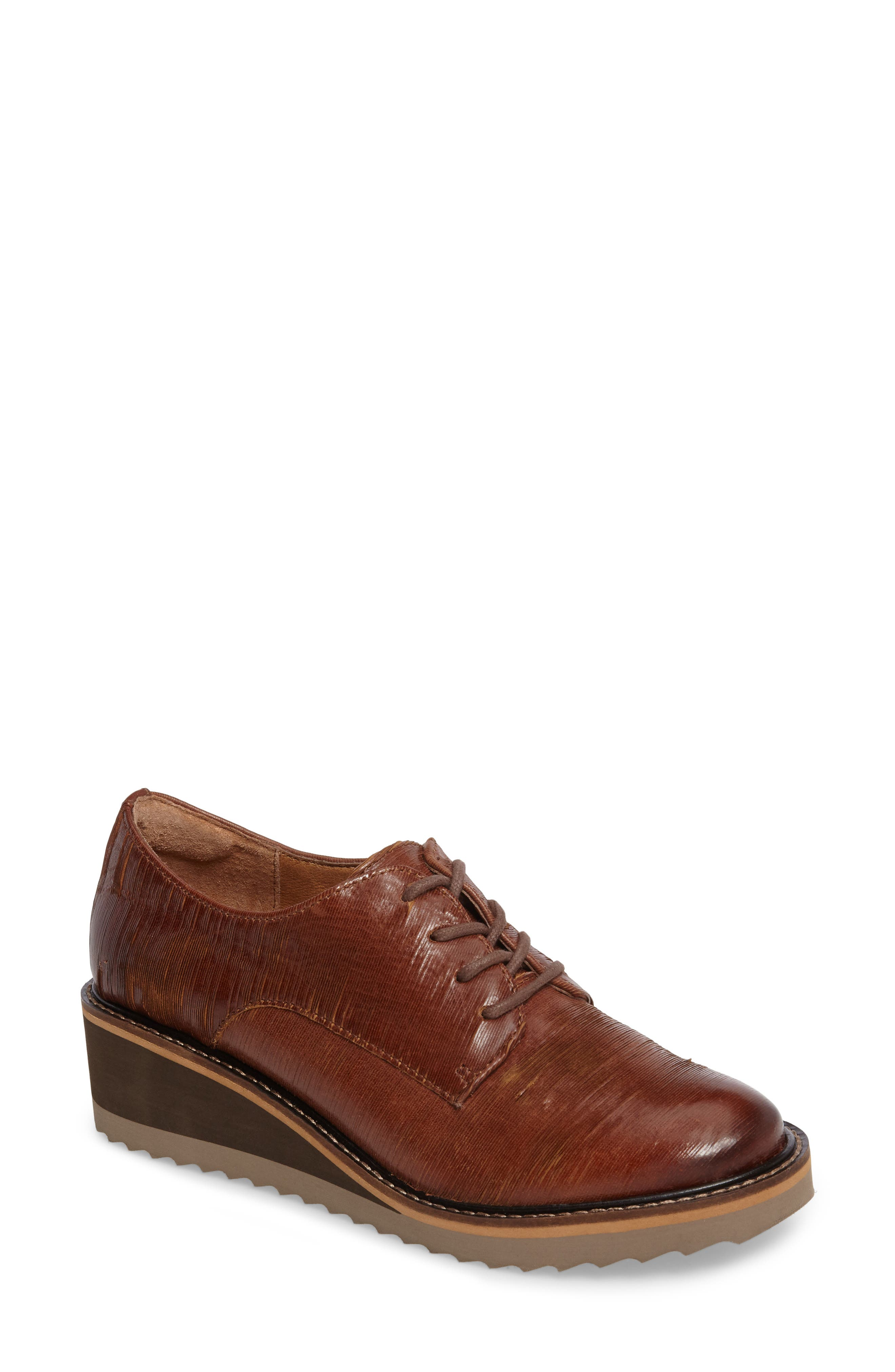 Salerno Oxford,                             Main thumbnail 1, color,                             WHISKEY SUEDE