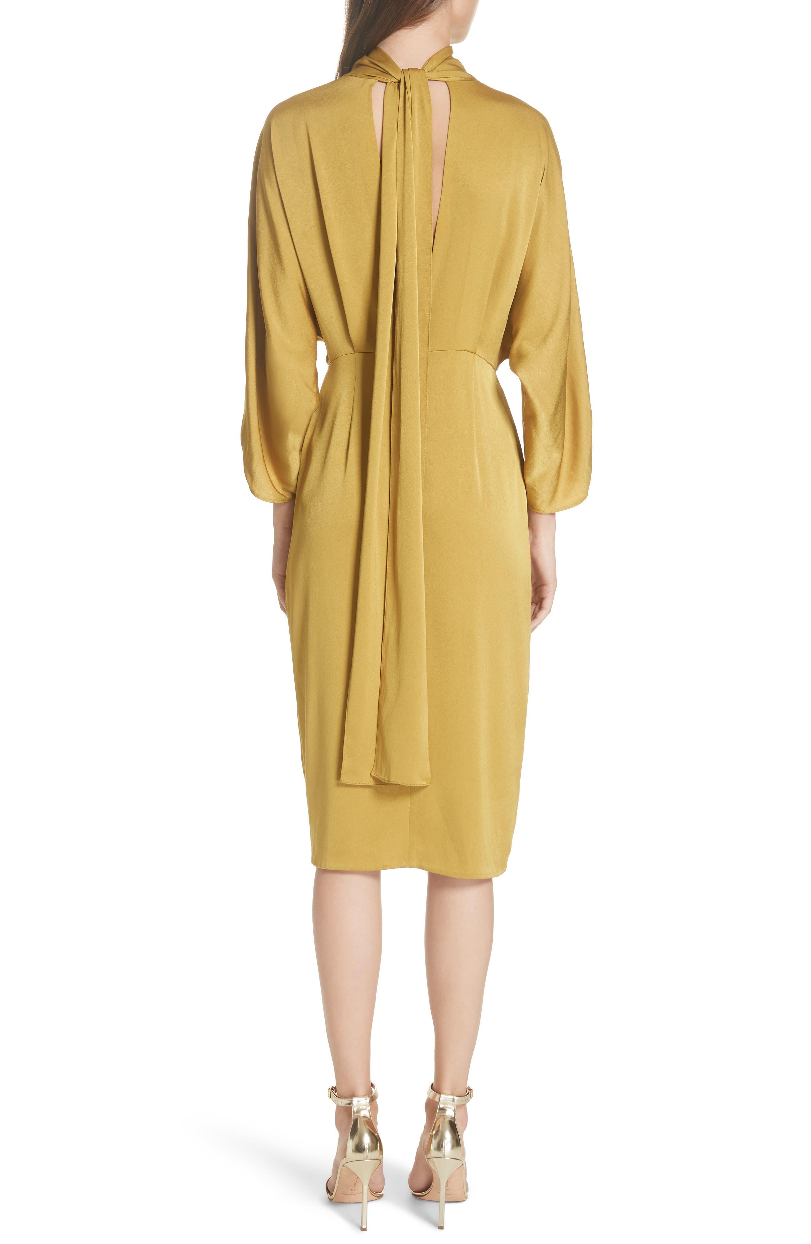Twist Front Faux Wrap Dress,                             Alternate thumbnail 2, color,                             710