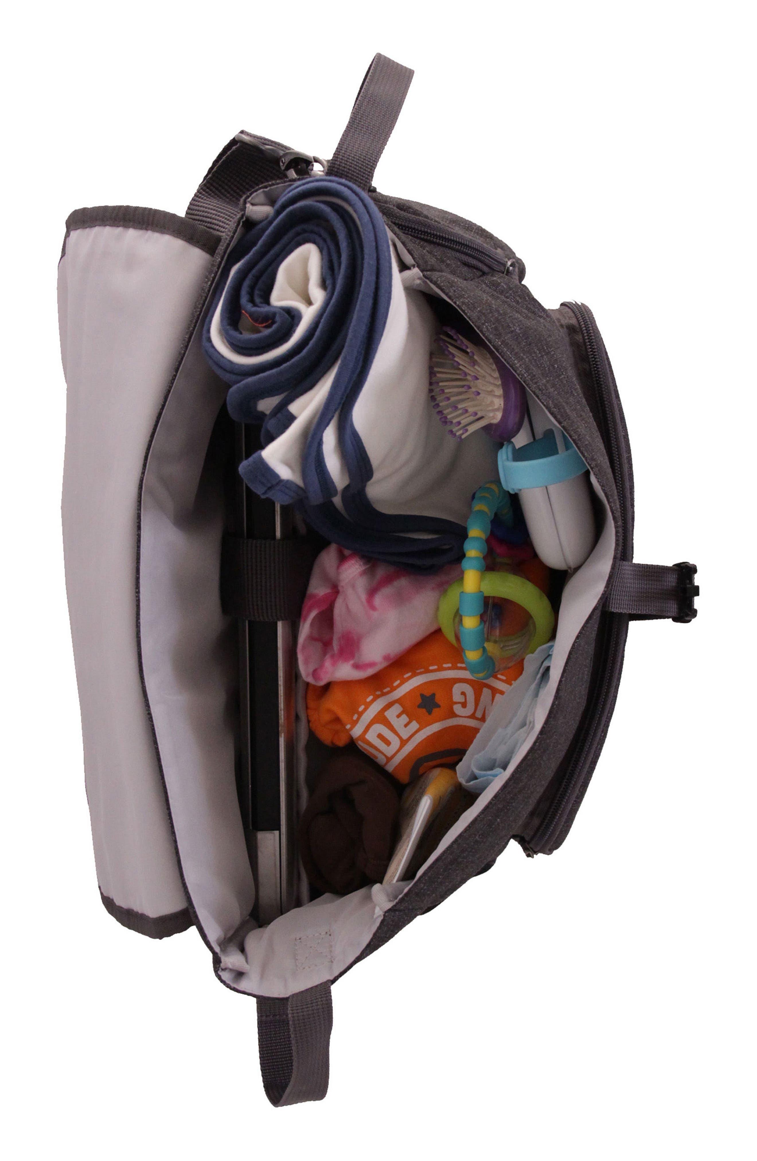 Convertible Diaper Backpack,                             Alternate thumbnail 3, color,                             001