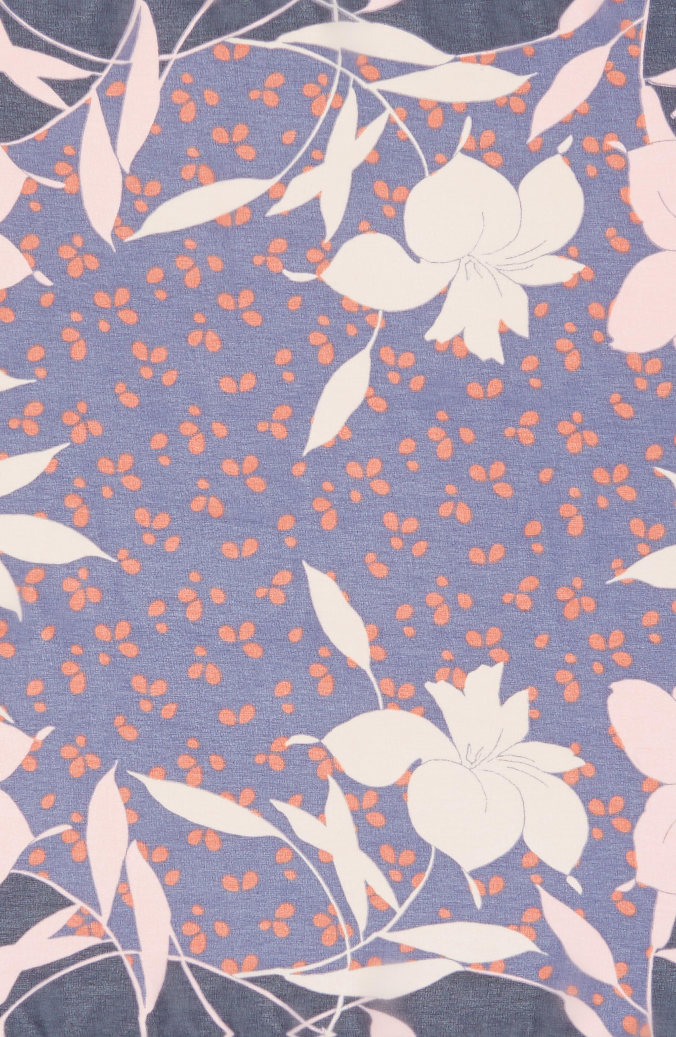 Floral Square Scarf,                             Alternate thumbnail 4, color,                             410