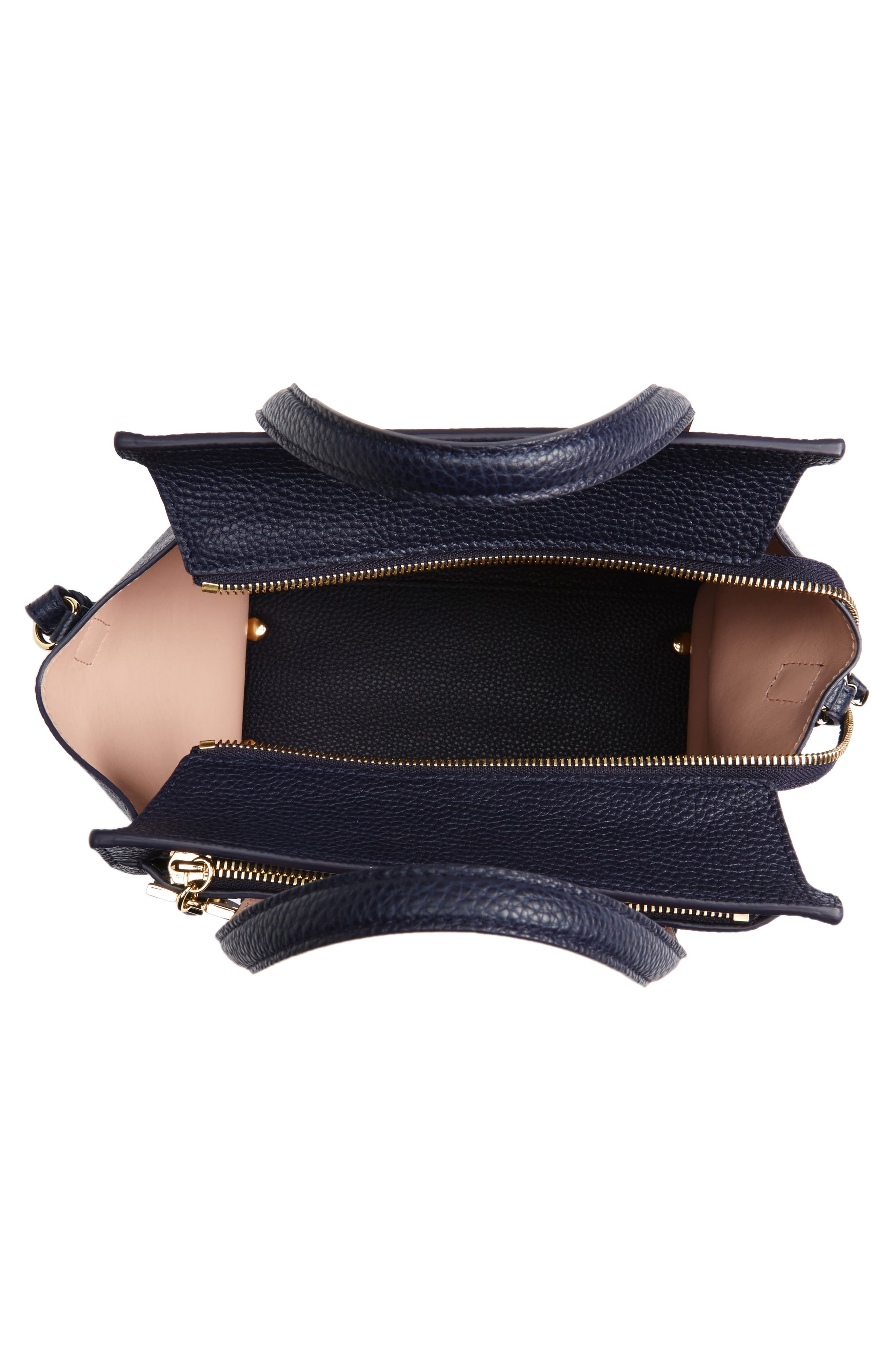 Small Amy Bicolor Leather Tote,                             Alternate thumbnail 4, color,                             292