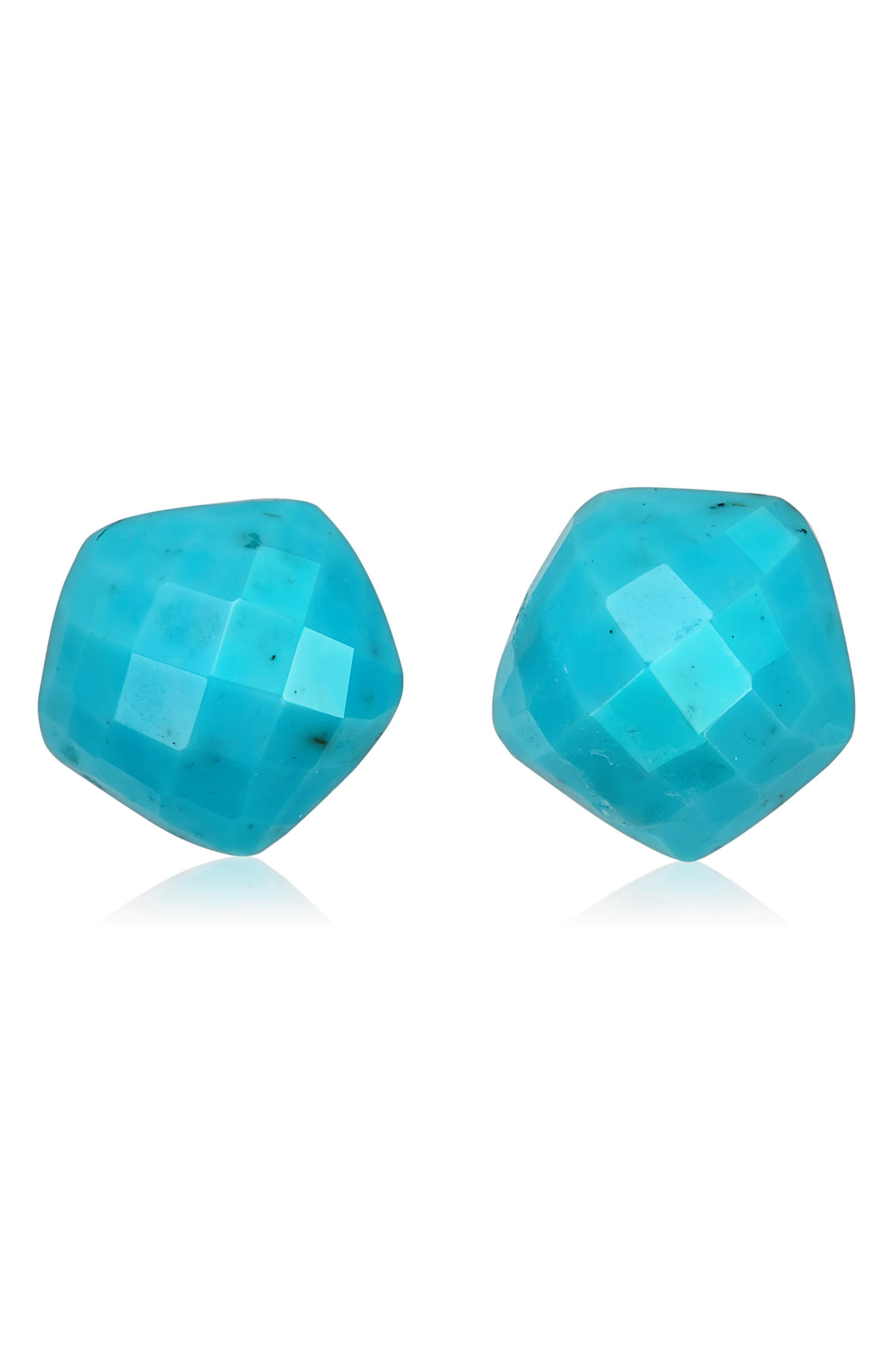 Nura Nugget Stud Earrings,                         Main,                         color, TURQUOISE