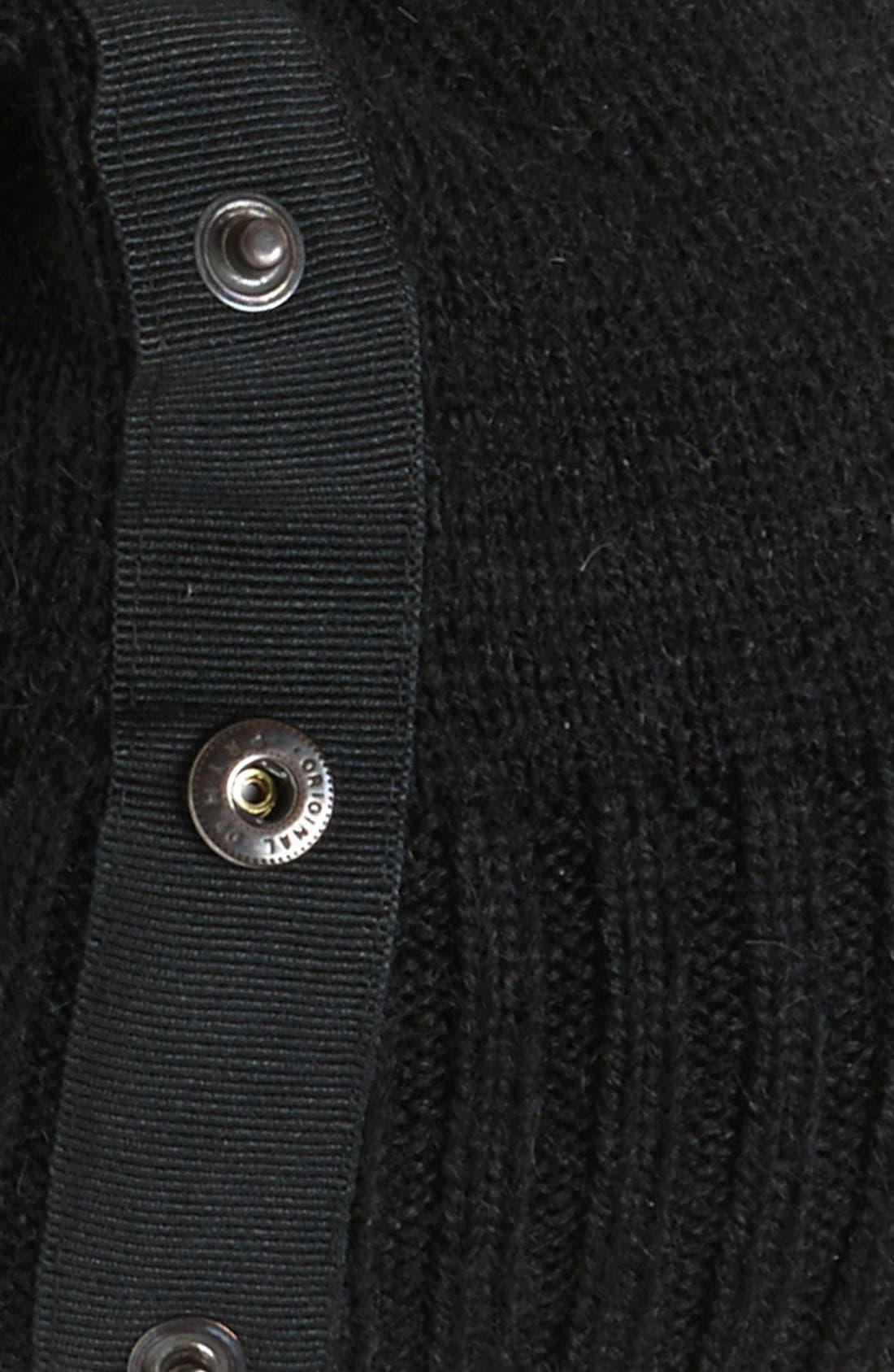 TARNISH,                             Snap Detail Slouchy Knit Beanie,                             Alternate thumbnail 2, color,                             001