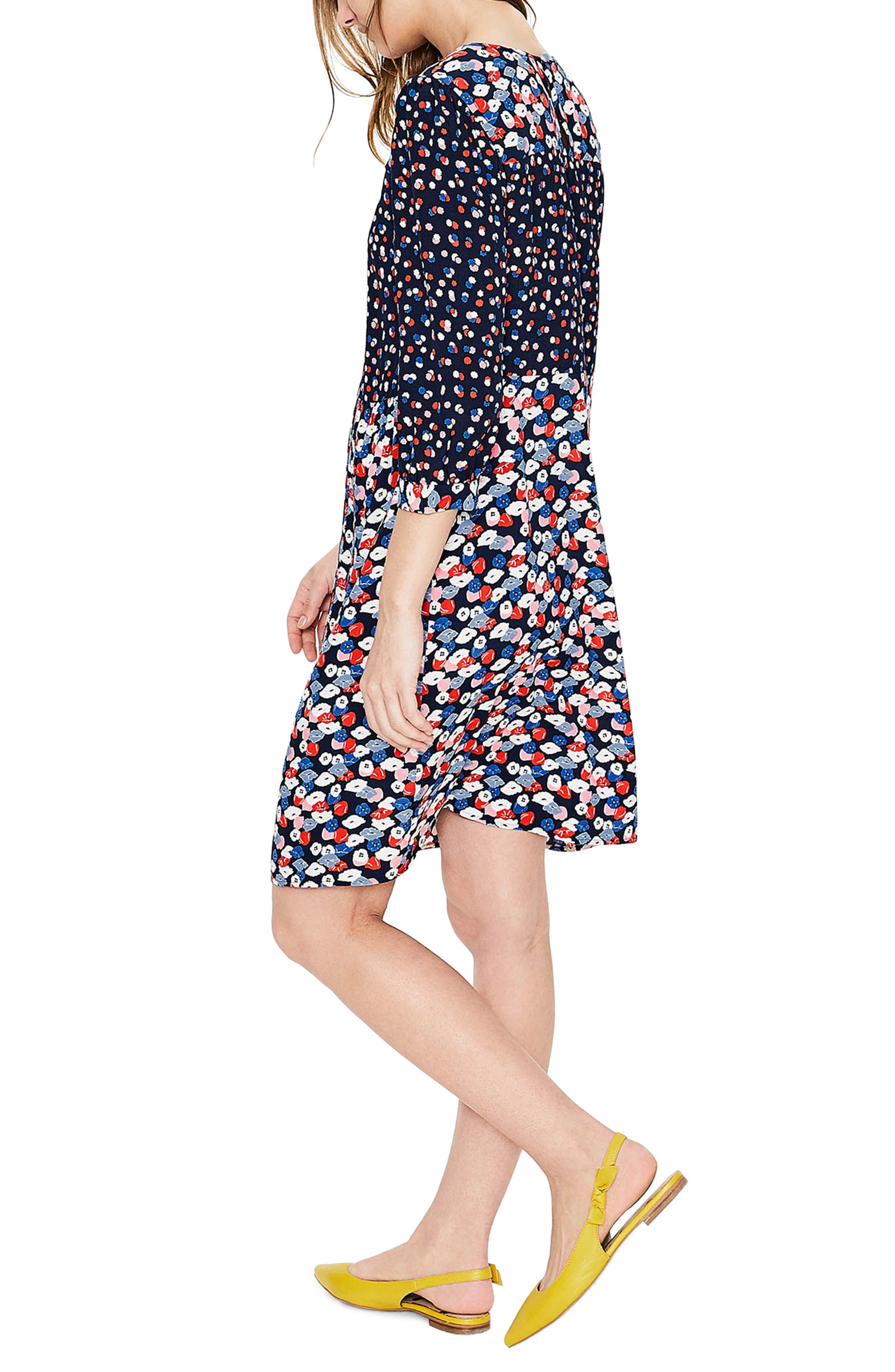 Hotchpotch Pattern Mix Pintuck Dress,                             Alternate thumbnail 2, color,                             486