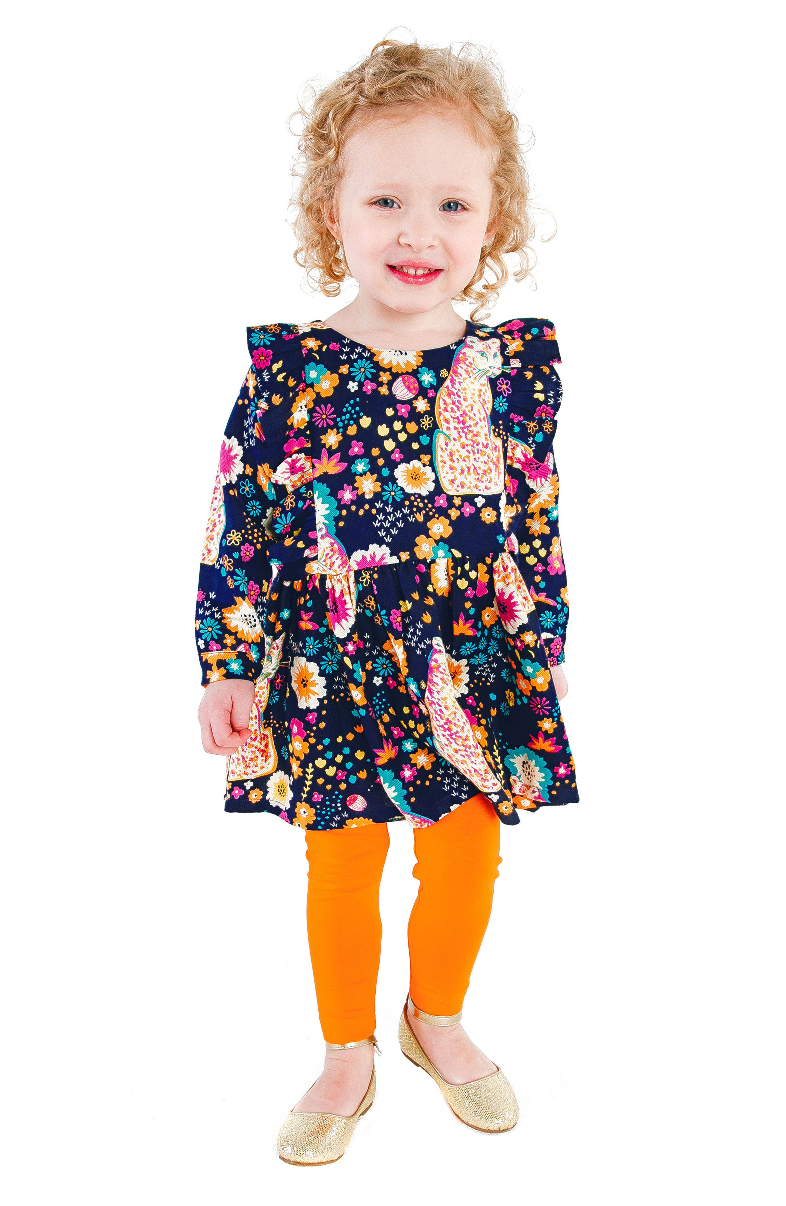 Fantasia Cheetah Dress,                             Alternate thumbnail 2, color,                             NAVY