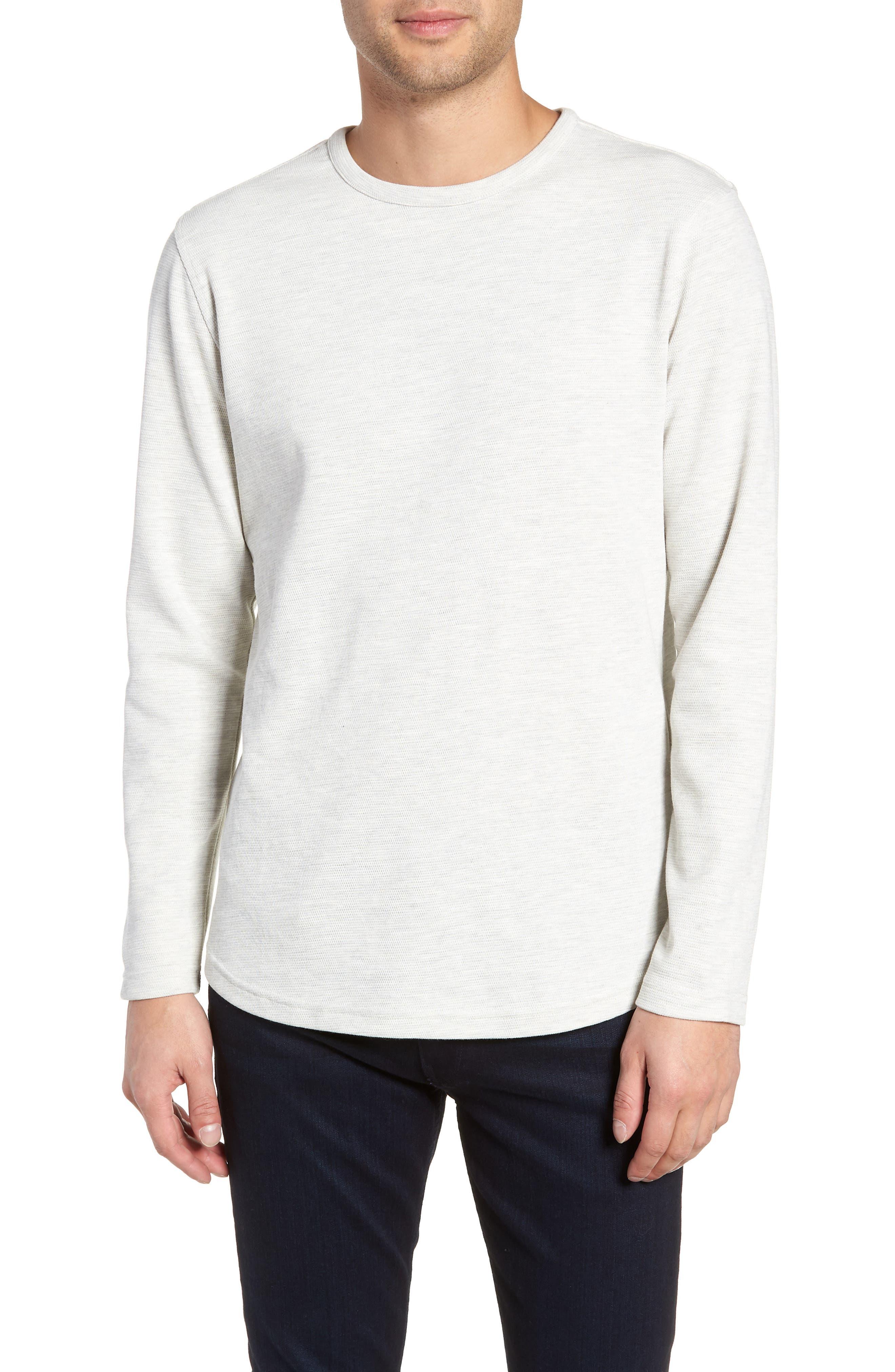Trim Fit Waffle Knit Shirt,                         Main,                         color, CREME