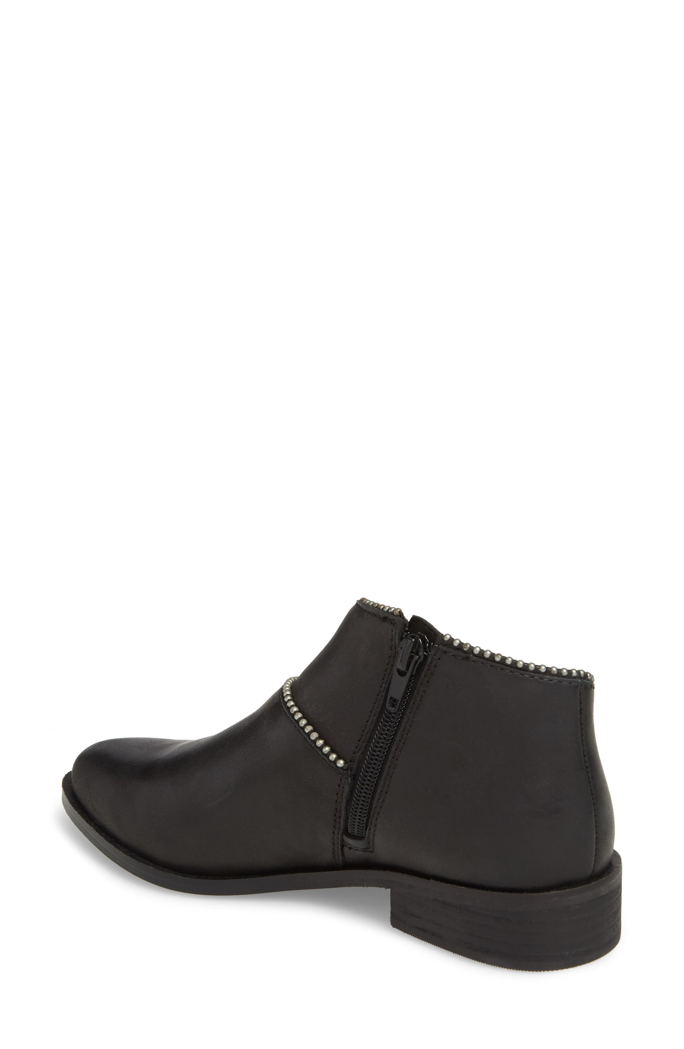 Prucella Bootie,                             Alternate thumbnail 2, color,                             BLACK LEATHER