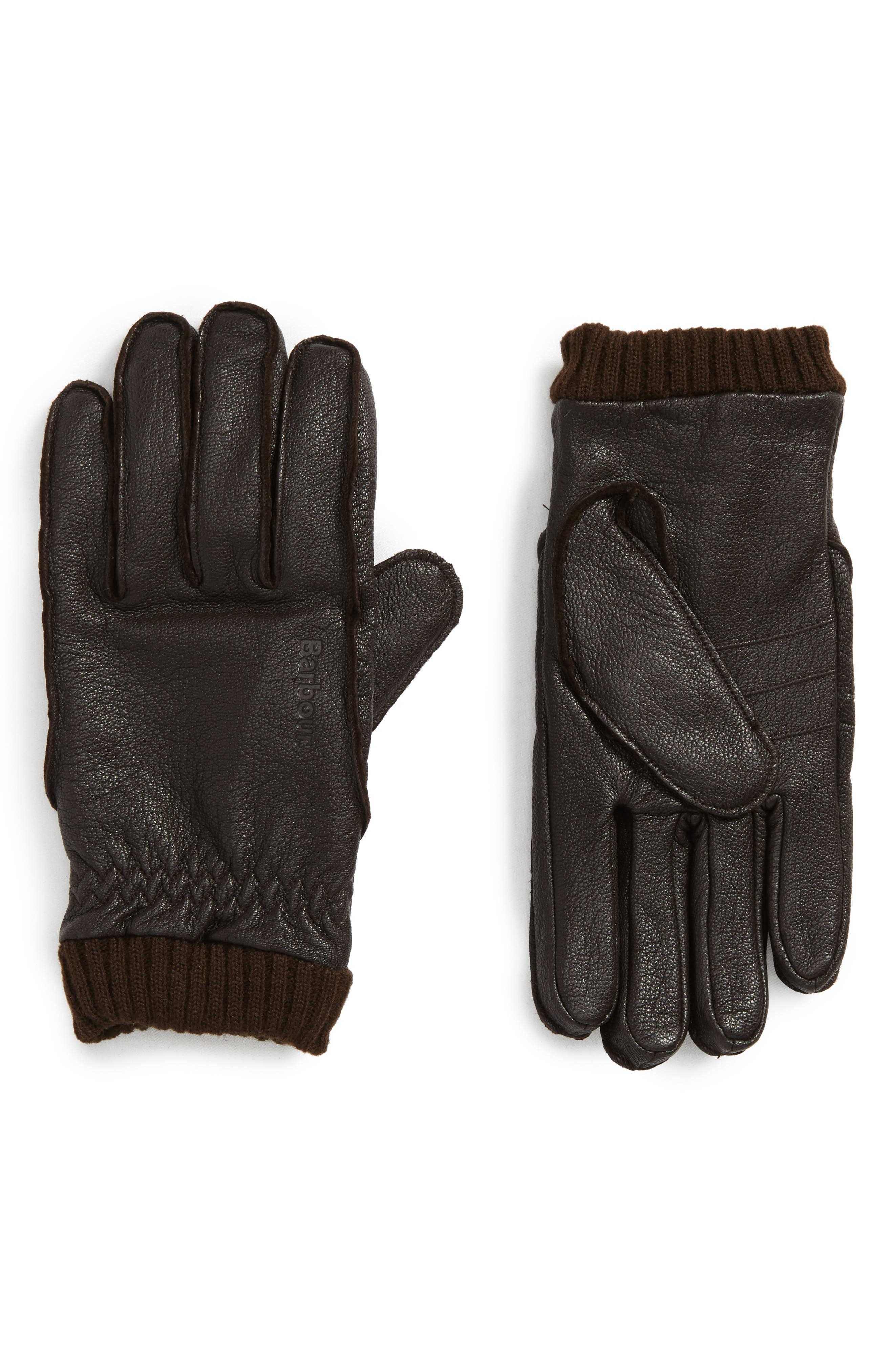 Barrow Leather Gloves,                             Main thumbnail 2, color,