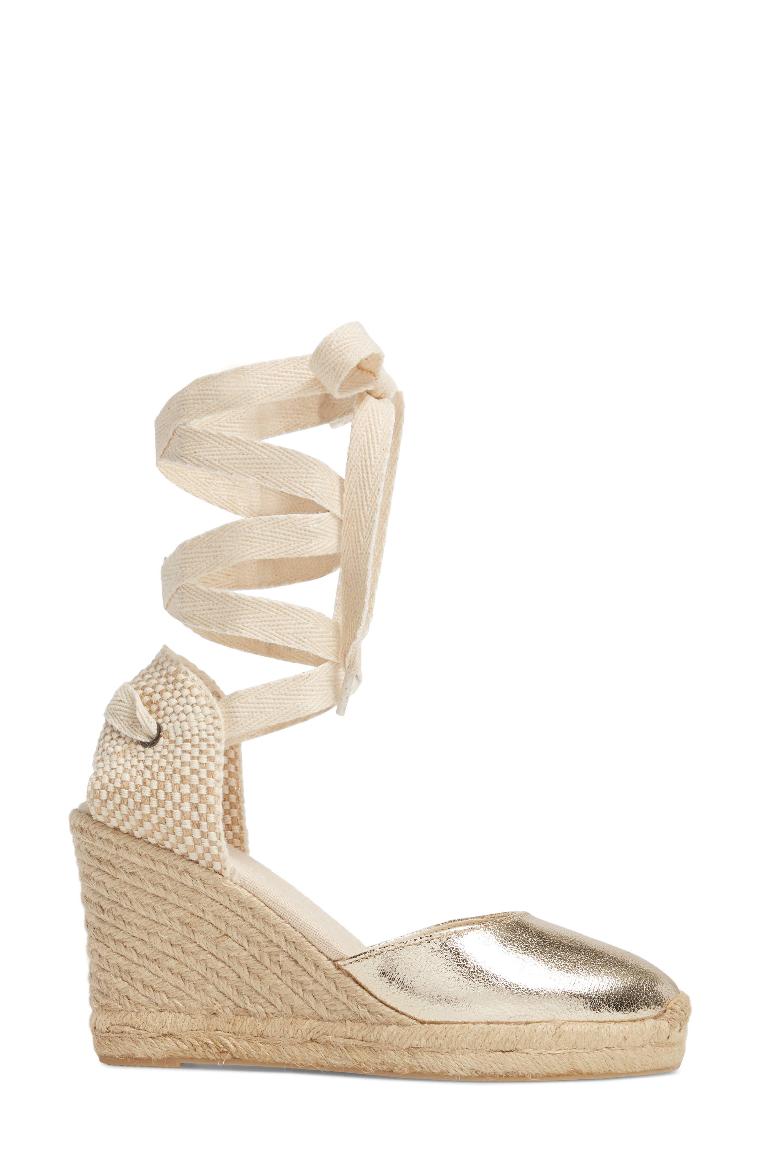 Wedge Lace-Up Espadrille Sandal,                             Alternate thumbnail 3, color,                             711