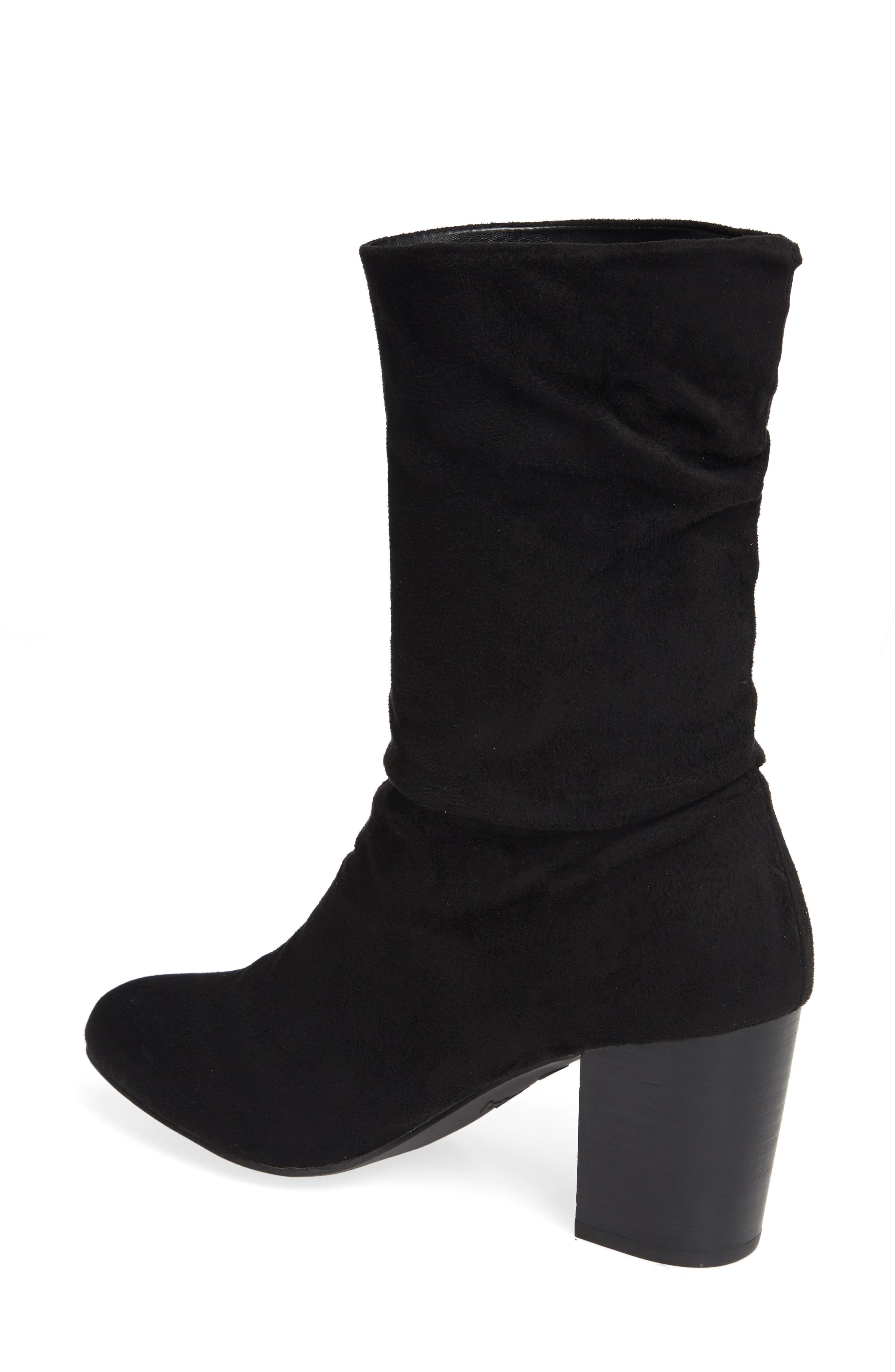 Steffani Slouchy Pull-On Bootie,                             Alternate thumbnail 2, color,                             BLACK