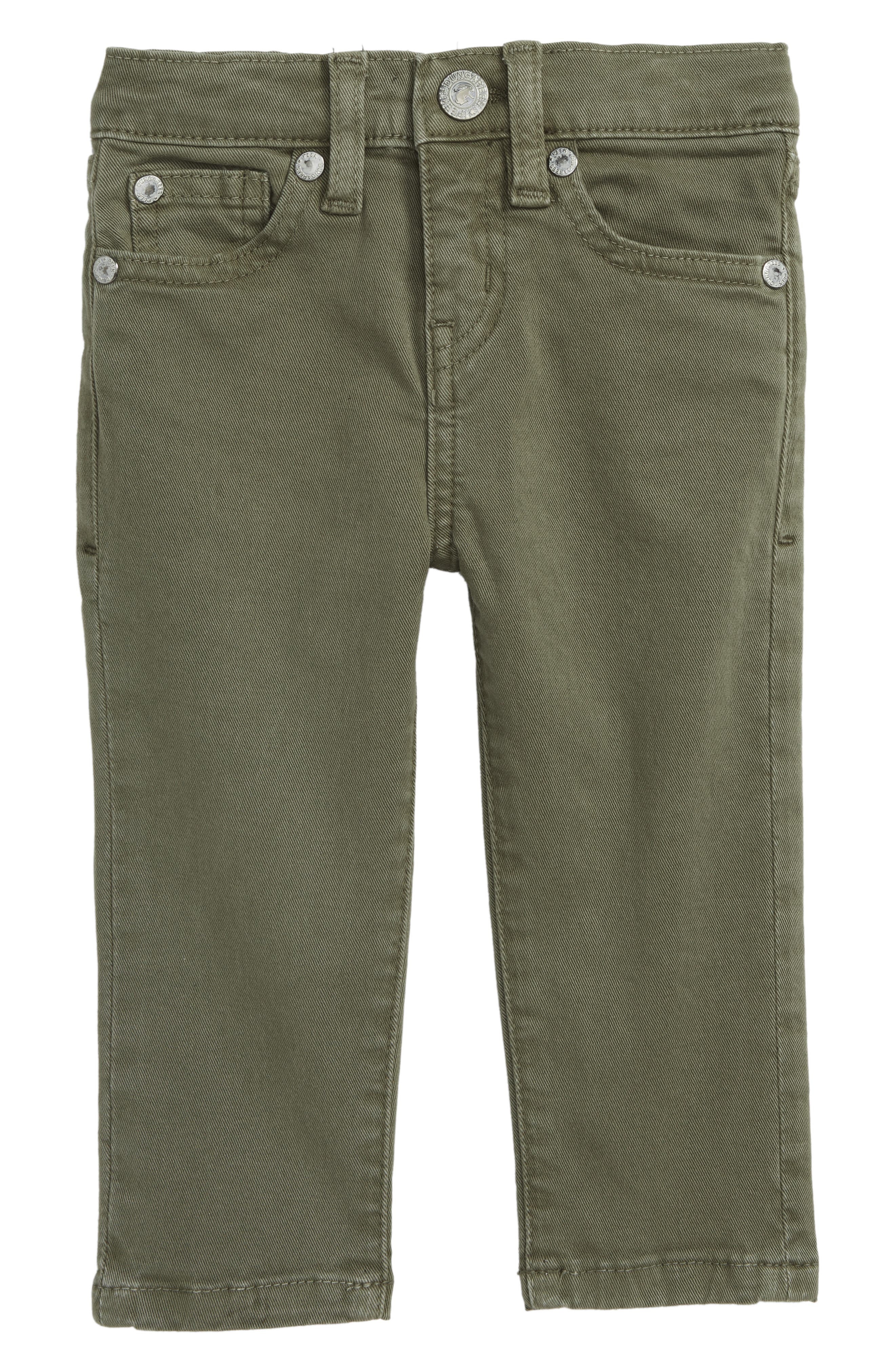Peek Slouch Twill Jeans,                         Main,                         color, OLIVE