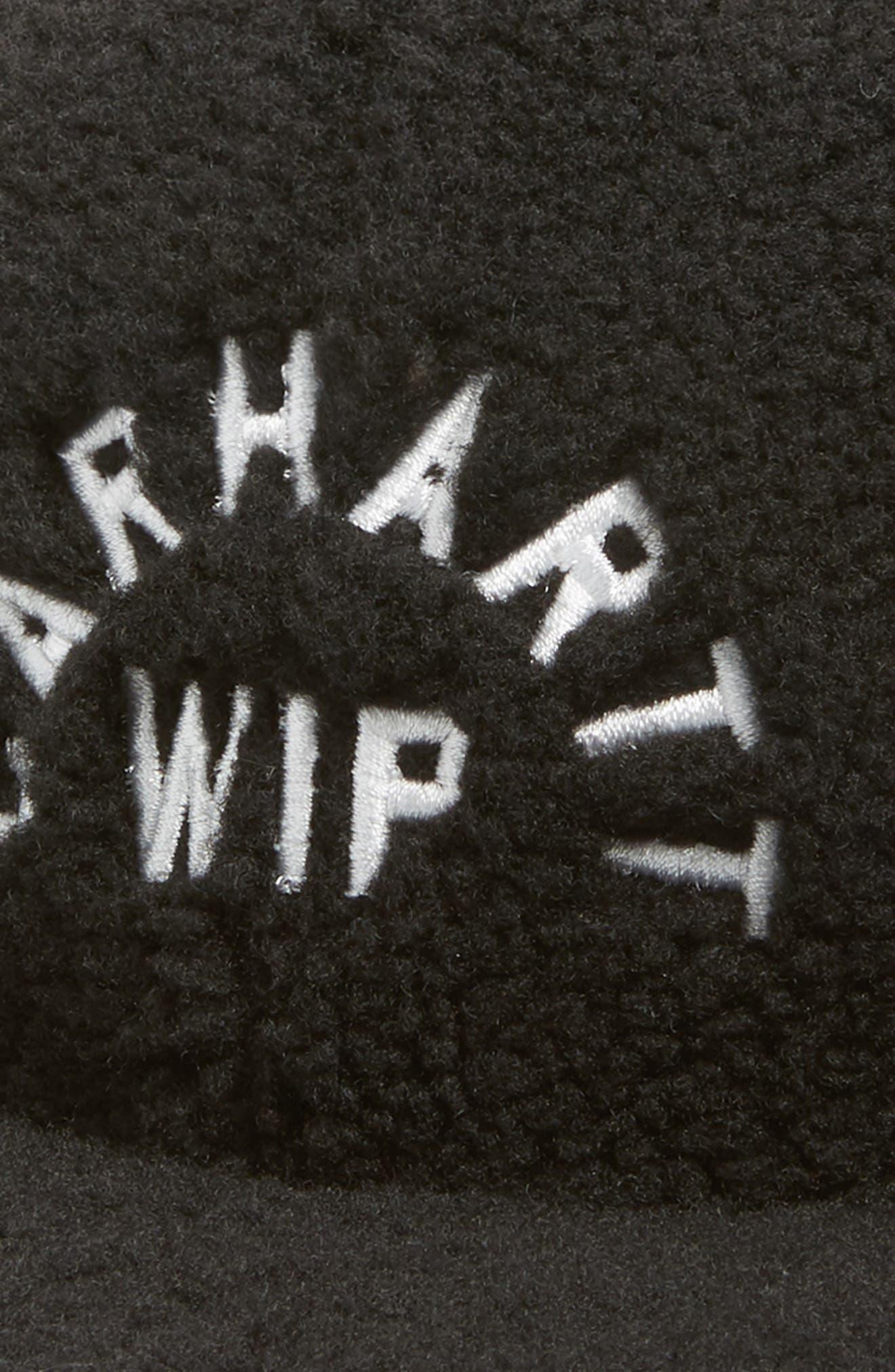 Pile Faux Shearling Cap,                             Alternate thumbnail 3, color,                             BLACK / WAX