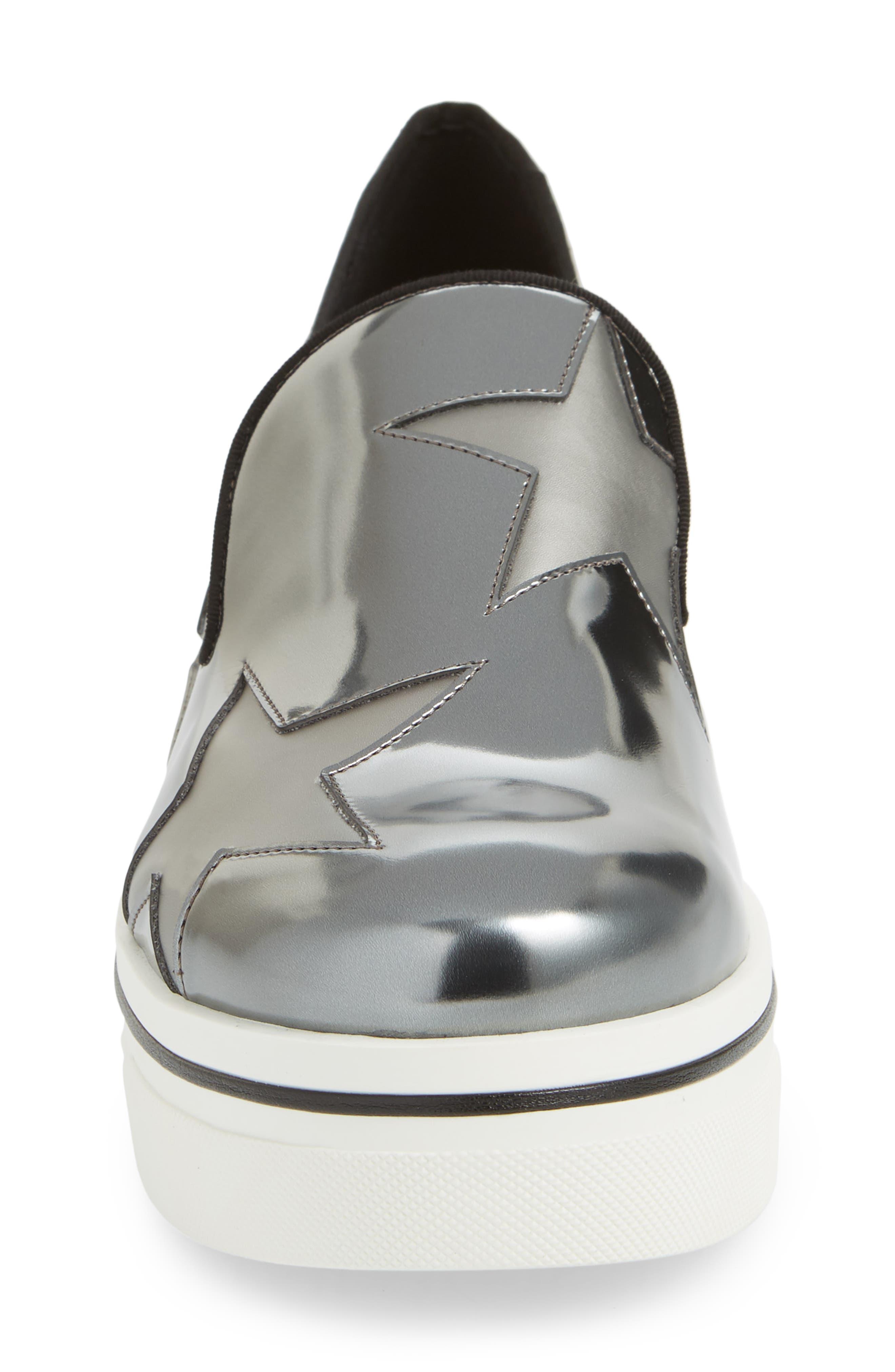 Binx Stars Platform Sneaker,                             Alternate thumbnail 4, color,                             ZINC