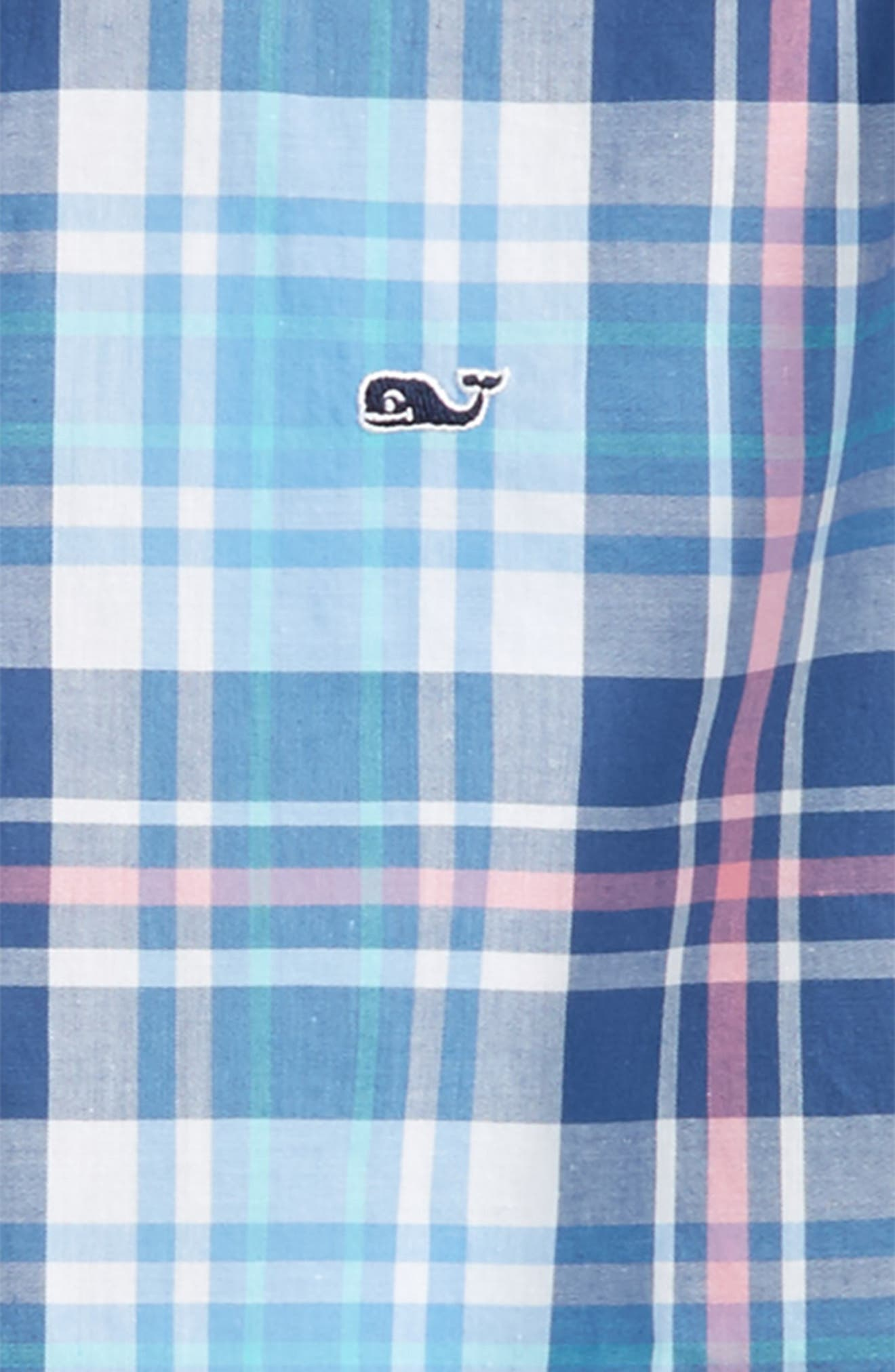 Fort Sumter Plaid Whale Shirt,                             Alternate thumbnail 2, color,                             406