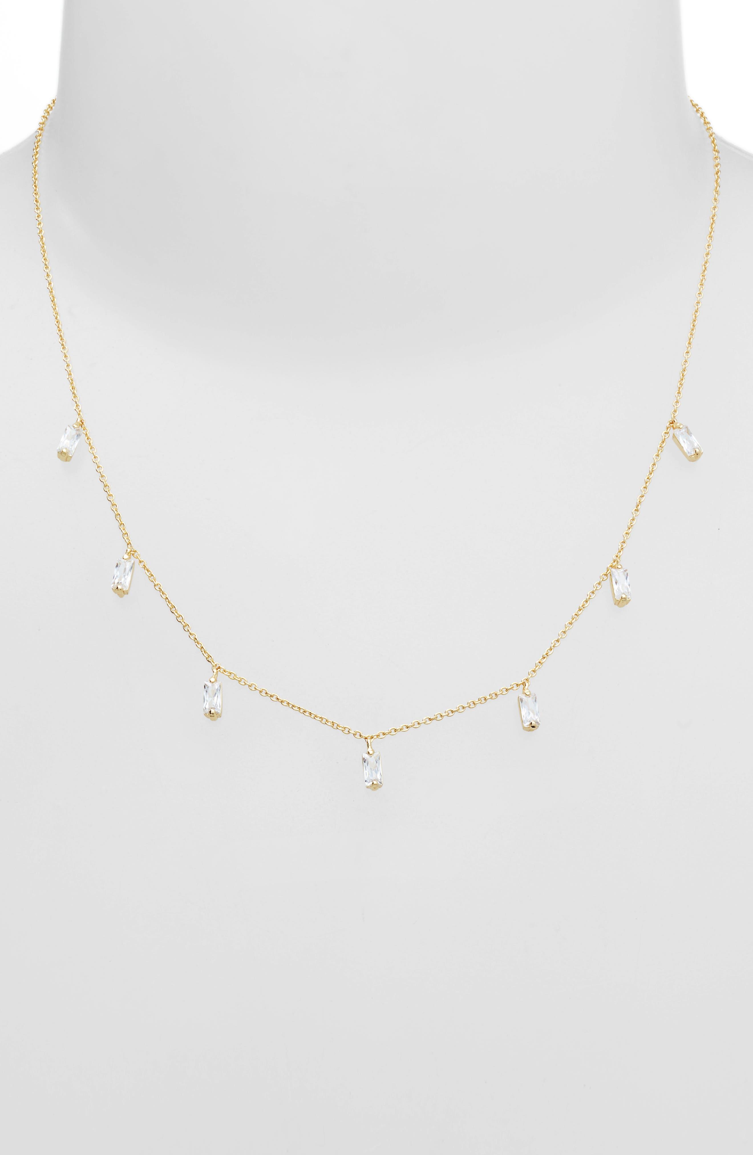 GORJANA,                             Amara Crystal Fringe Necklace,                             Alternate thumbnail 2, color,                             JEWEL/ GOLD