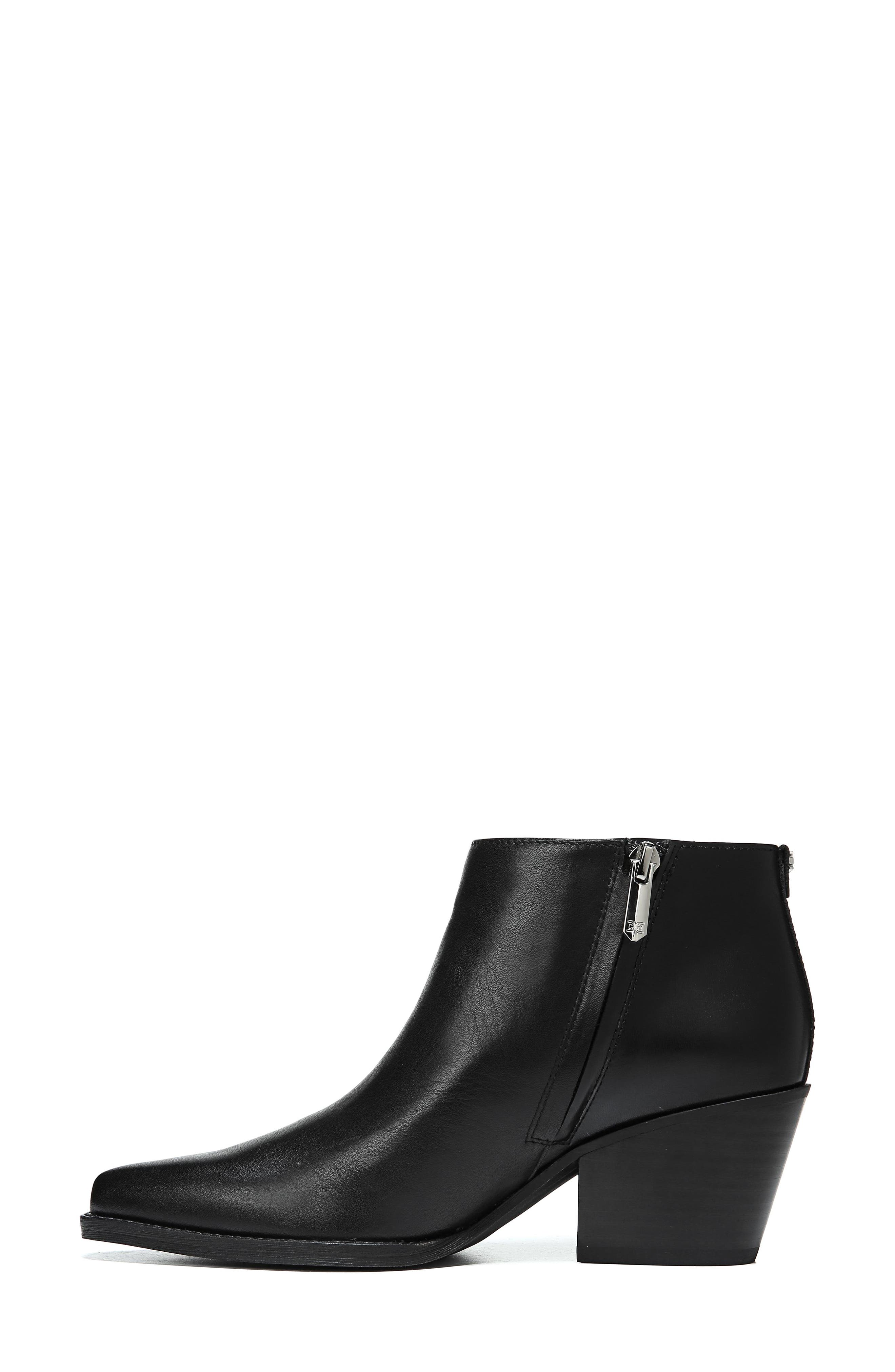 Walden Bootie,                             Alternate thumbnail 9, color,                             BLACK LEATHER