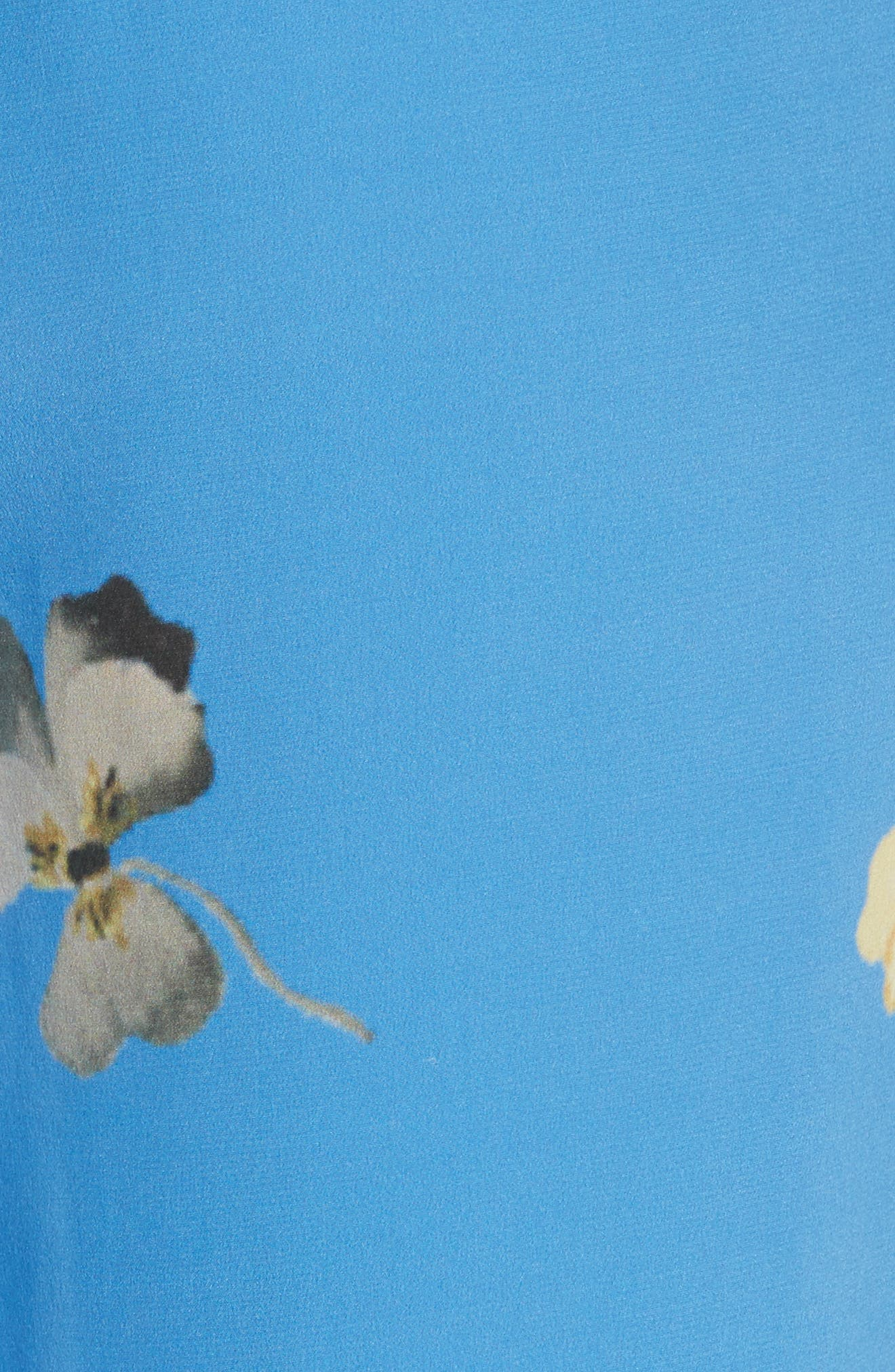 Joycedale Floral Silk Lounge Pants,                             Alternate thumbnail 5, color,                             400