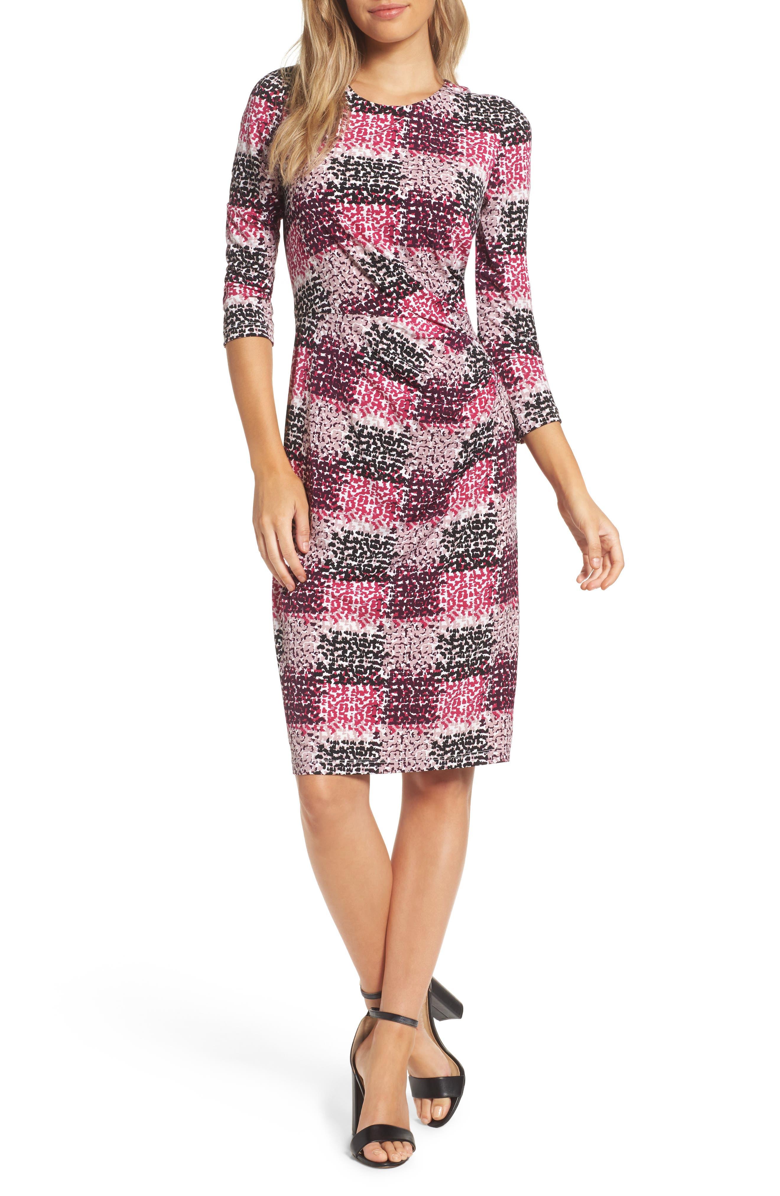 Jersey Sheath Dress,                             Main thumbnail 1, color,                             405