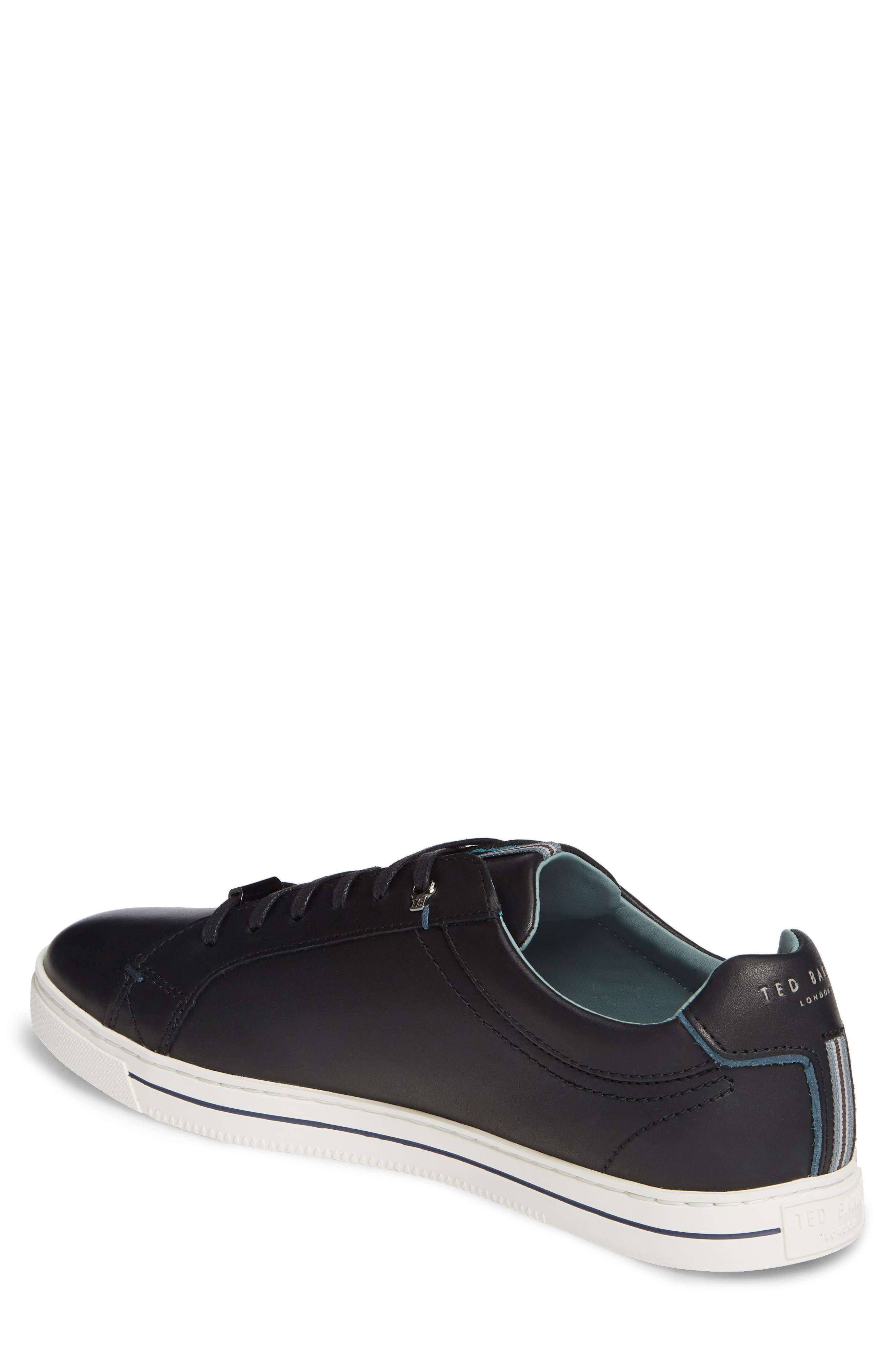 TED BAKER LONDON,                             Thawne Sneaker,                             Alternate thumbnail 2, color,                             BLACK LEATHER