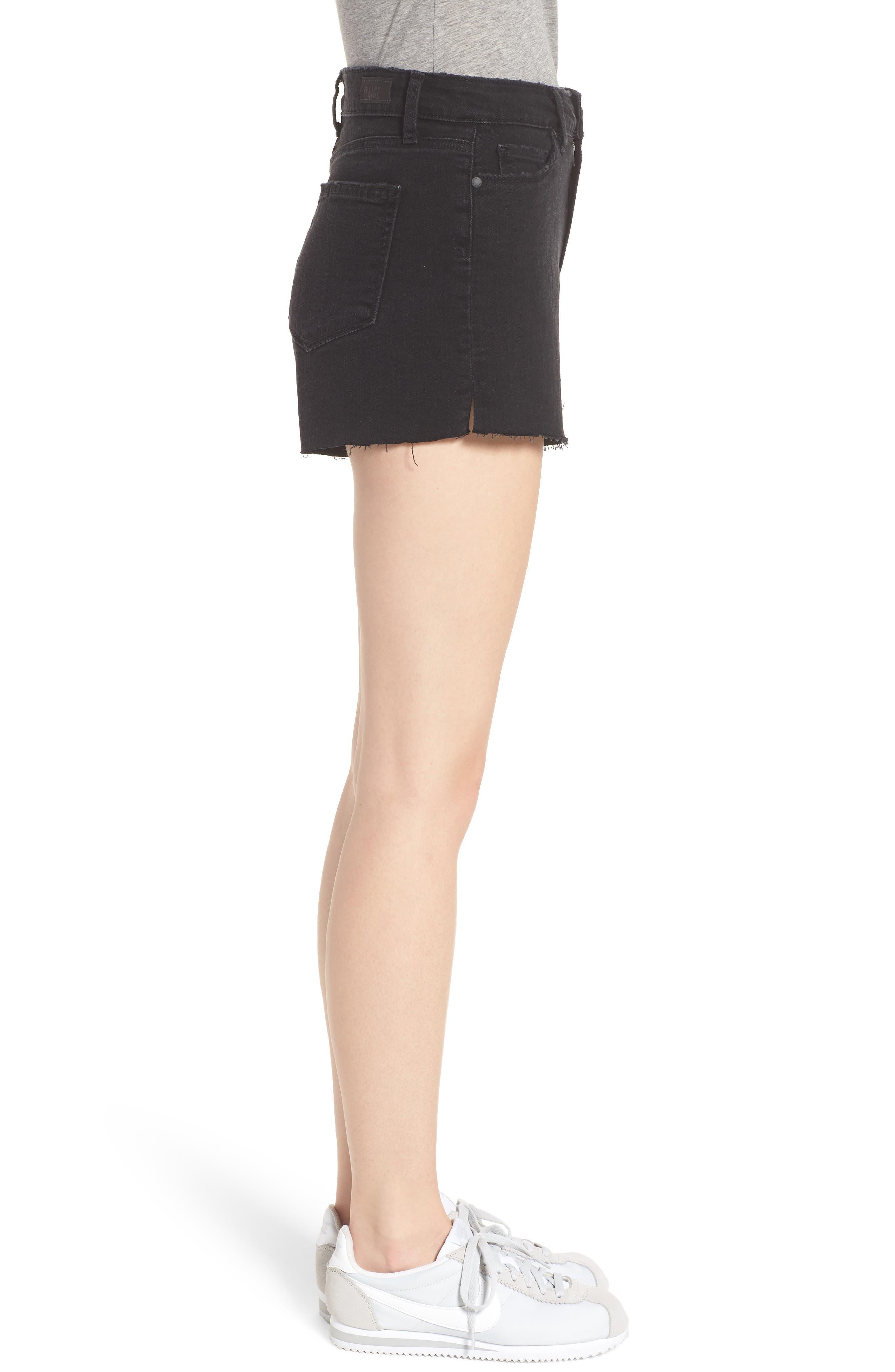 'Margot' High Rise Cutoff Denim Shorts,                             Alternate thumbnail 3, color,                             001