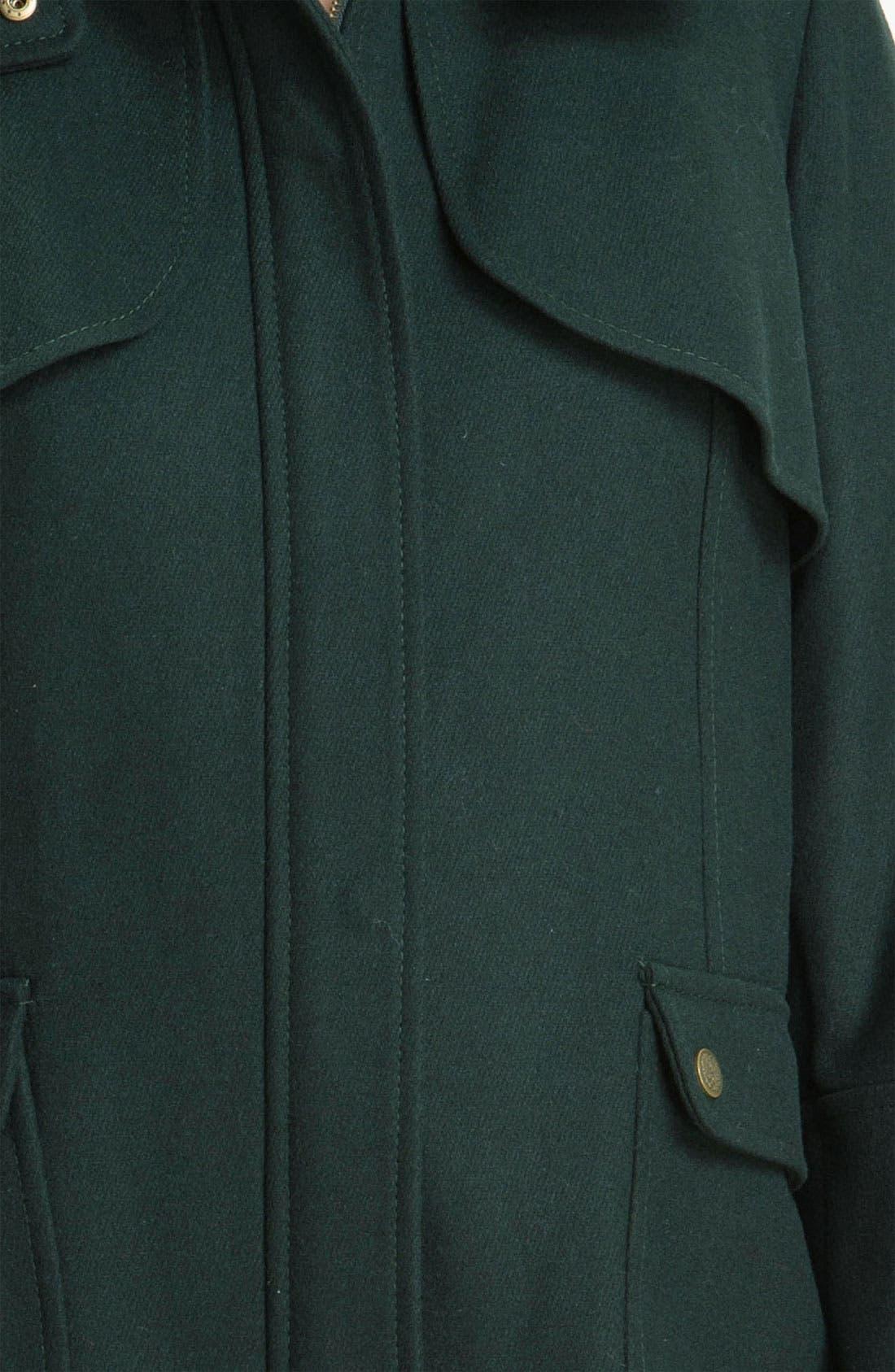 Wool Blend Jacket with Detachable Hood,                             Alternate thumbnail 2, color,                             300