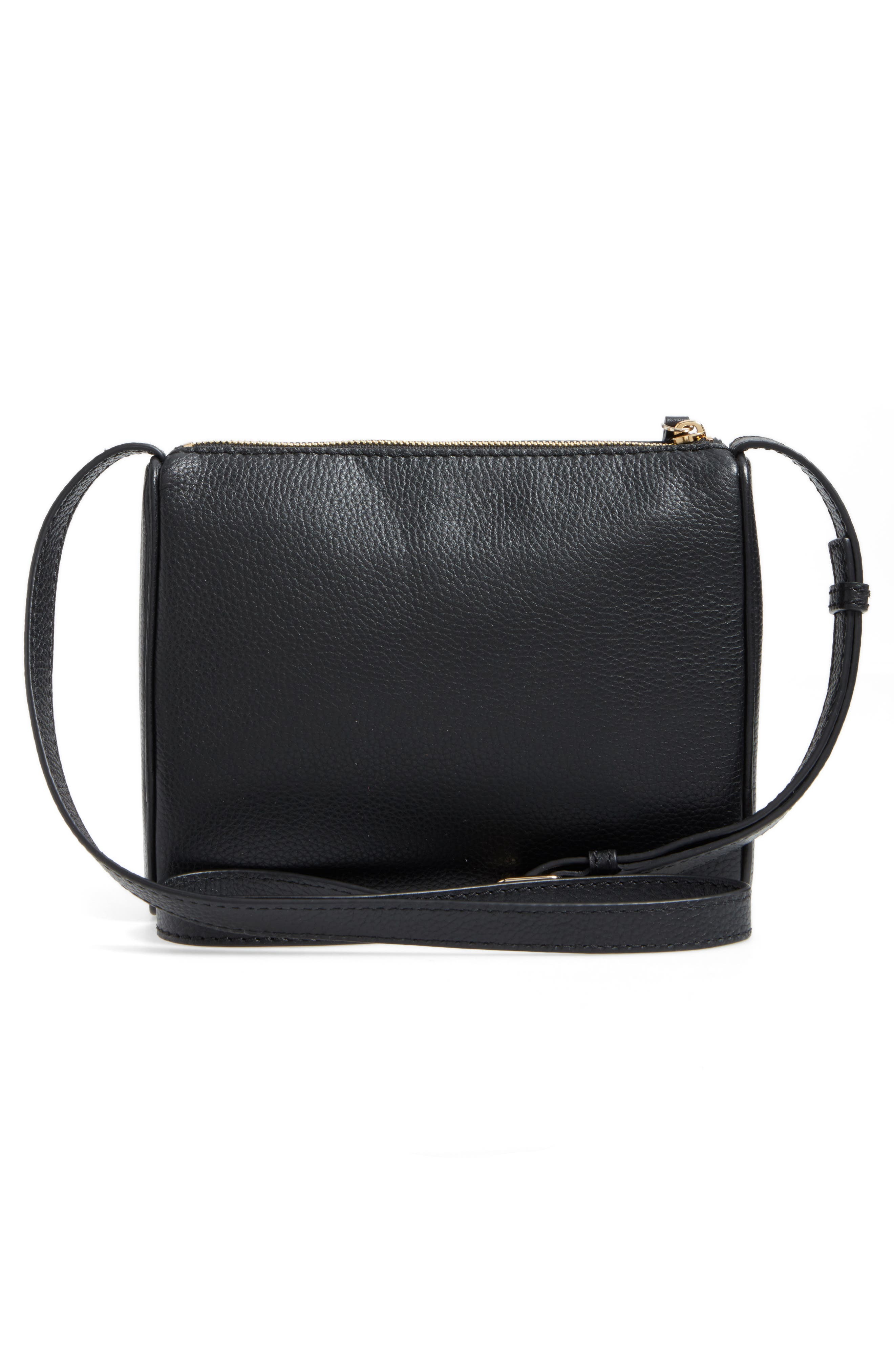 young lane - cayli leather crossbody bag,                             Alternate thumbnail 3, color,                             001