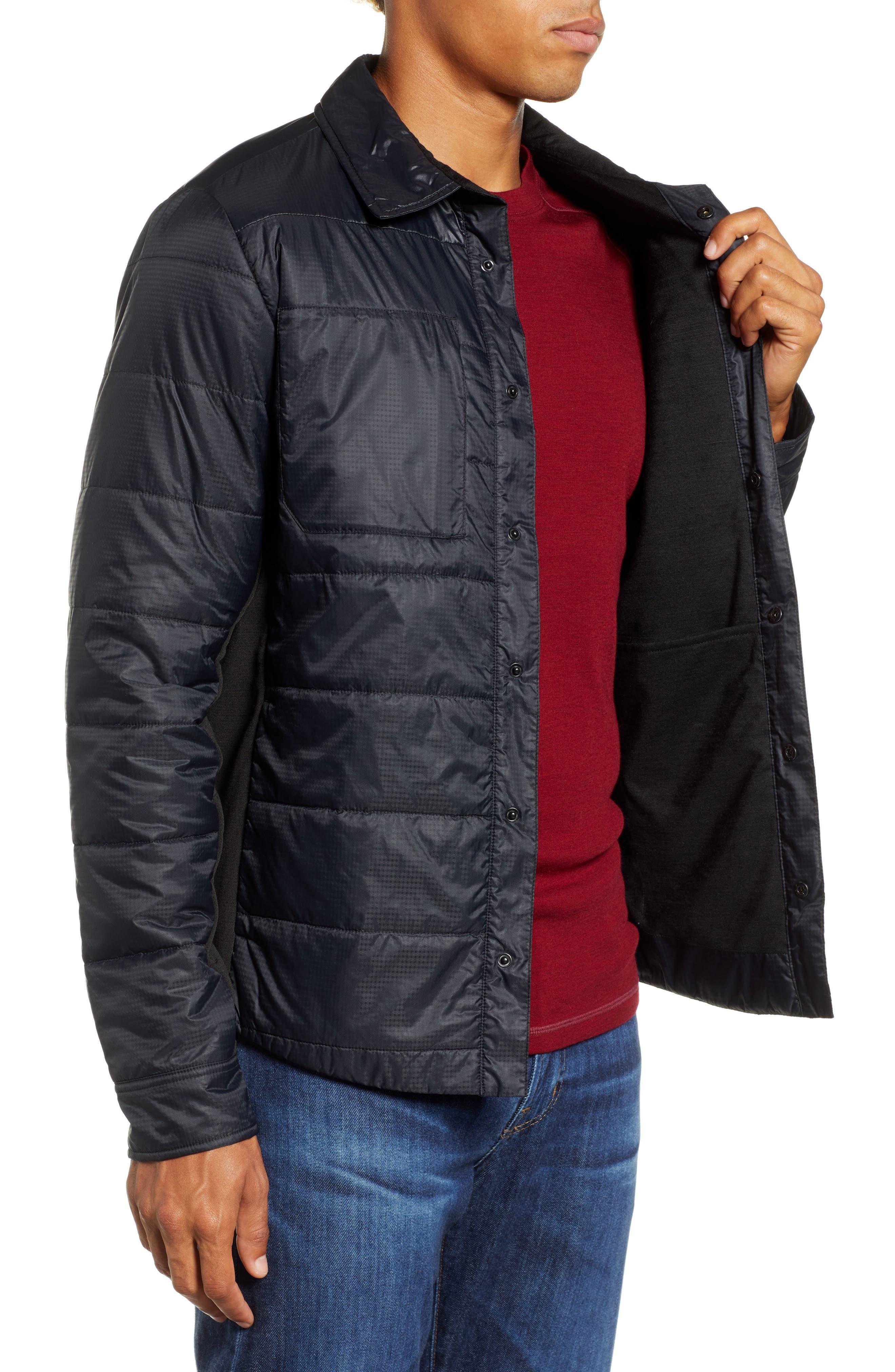 SmartLoft 60 Shirt Jacket,                             Alternate thumbnail 3, color,                             BLACK